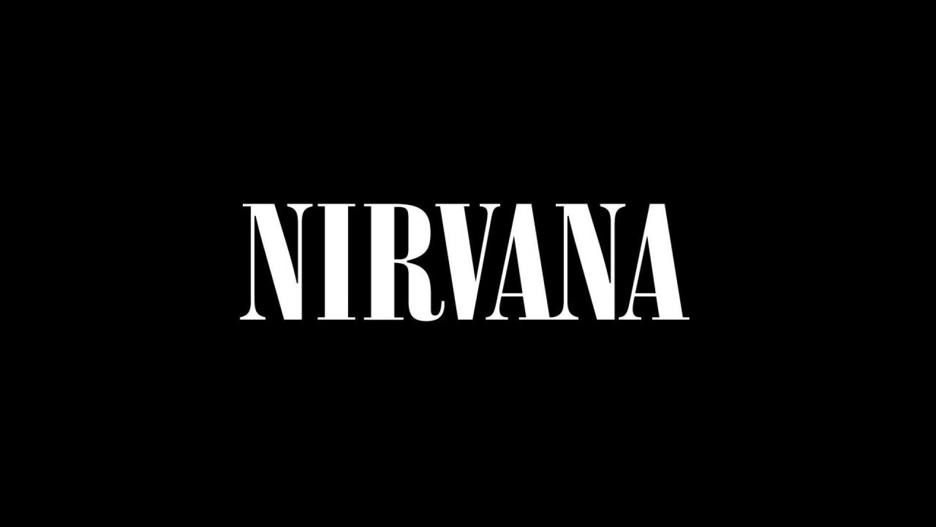 1920x1080 Nirvana Letters Logo Font Background