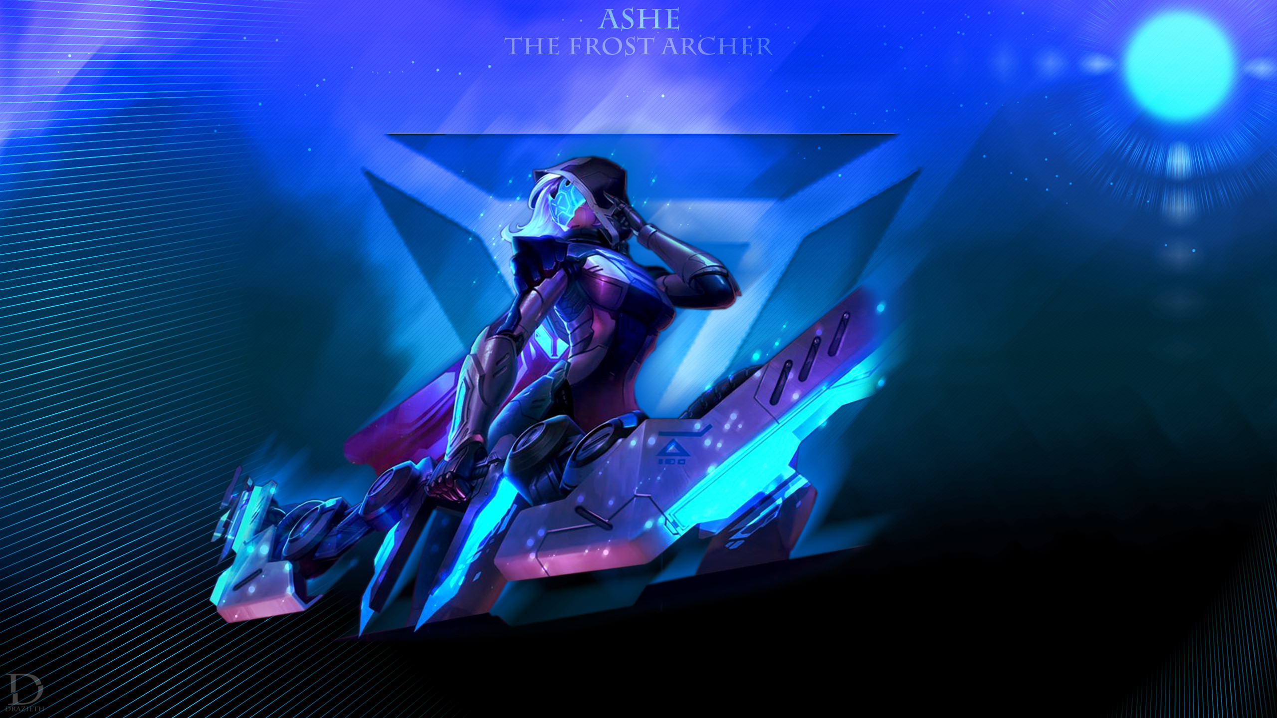 2560x1440 ... Project Ashe - League of Legends Wallpaper by Drazieth