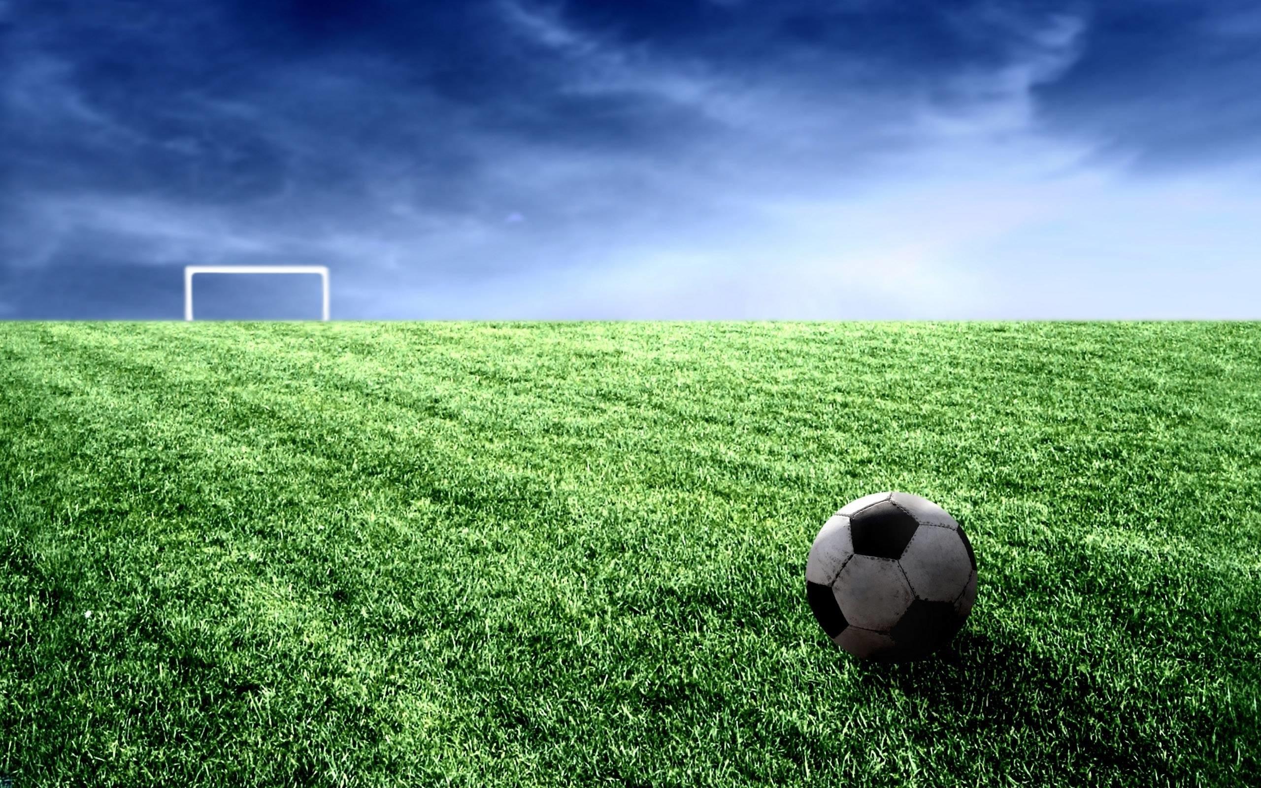 2560x1600 Cool Soccer Ball And Field Widescreen 2 HD Wallpaperscom