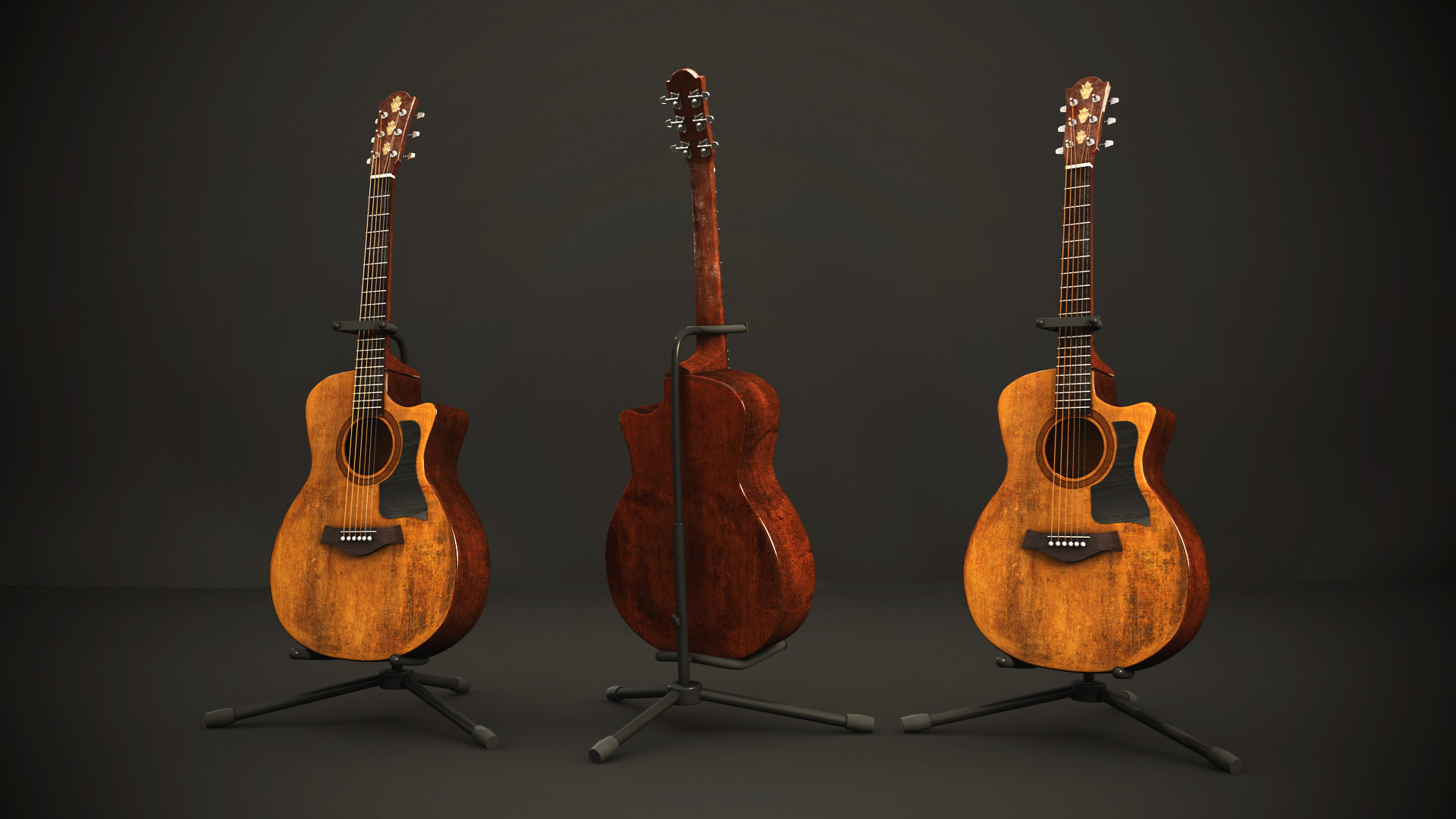 1920x1080 Old Acoustic Guitar by CPaschall on DeviantArt