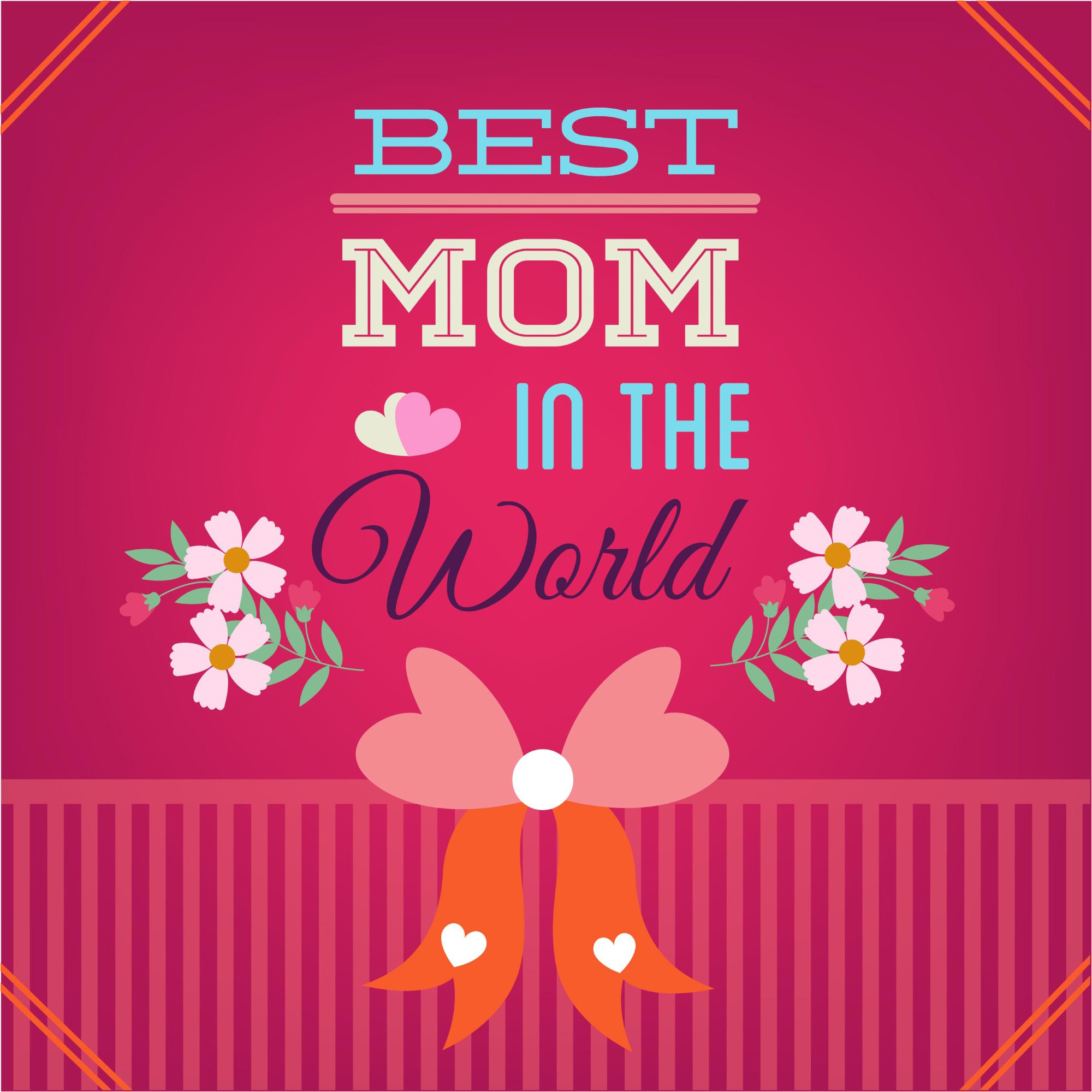 2000x2000 Best Mother Day Greeting Card Vector