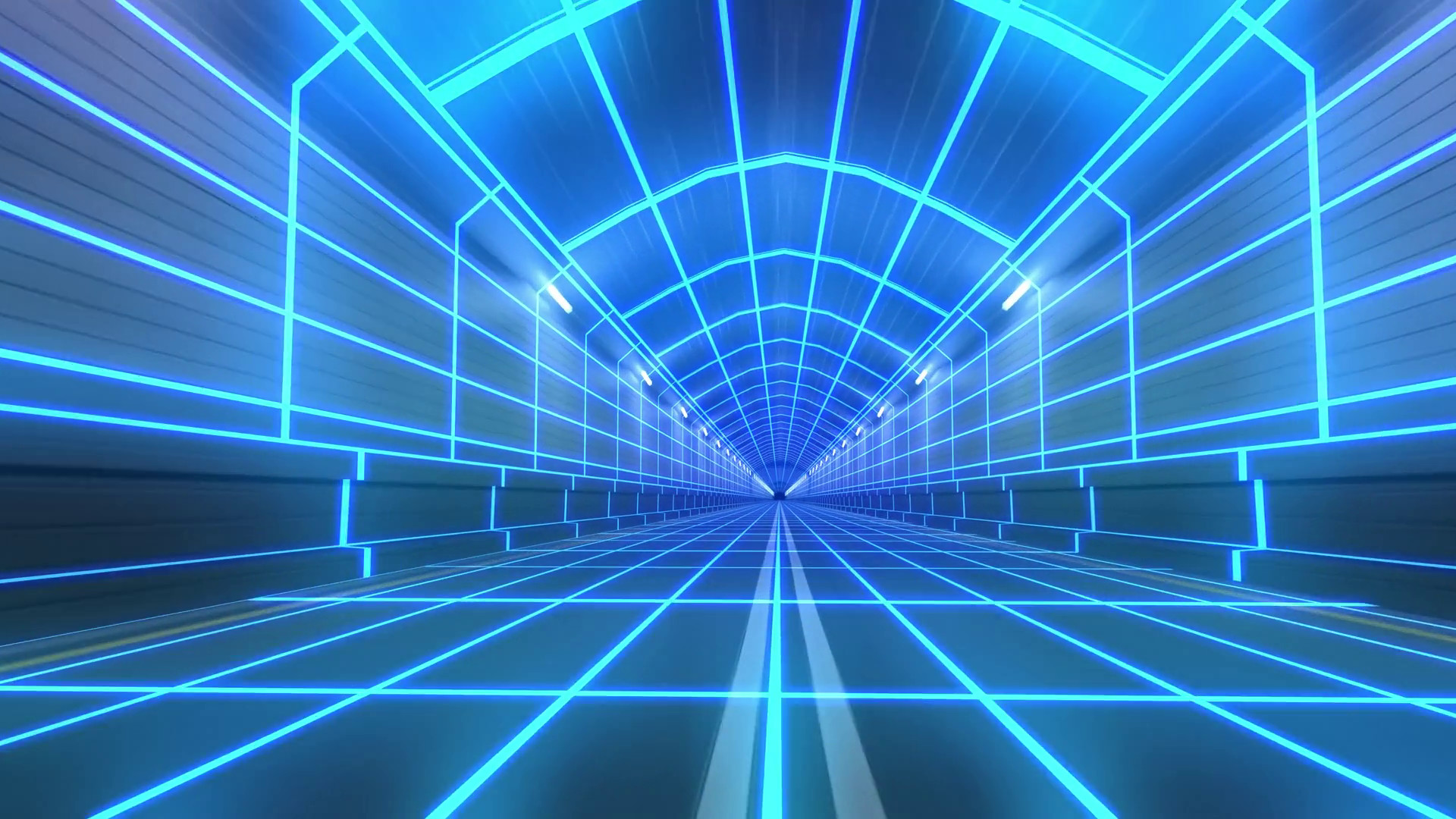 1920x1080 Loop tunnel 80s retro tron future wireframe arcade road tube subway neon  glow 4k Motion Background - VideoBlocks