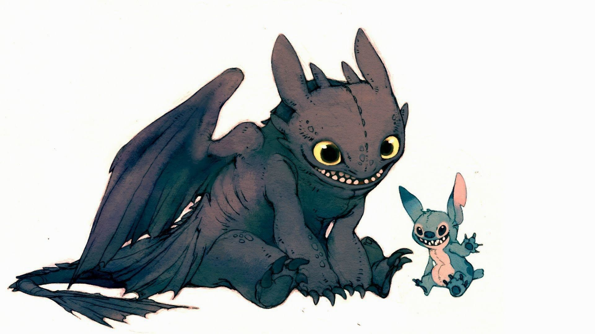 1920x1080 Toothless-and-stich-HD-cartoon-wallpaper-1