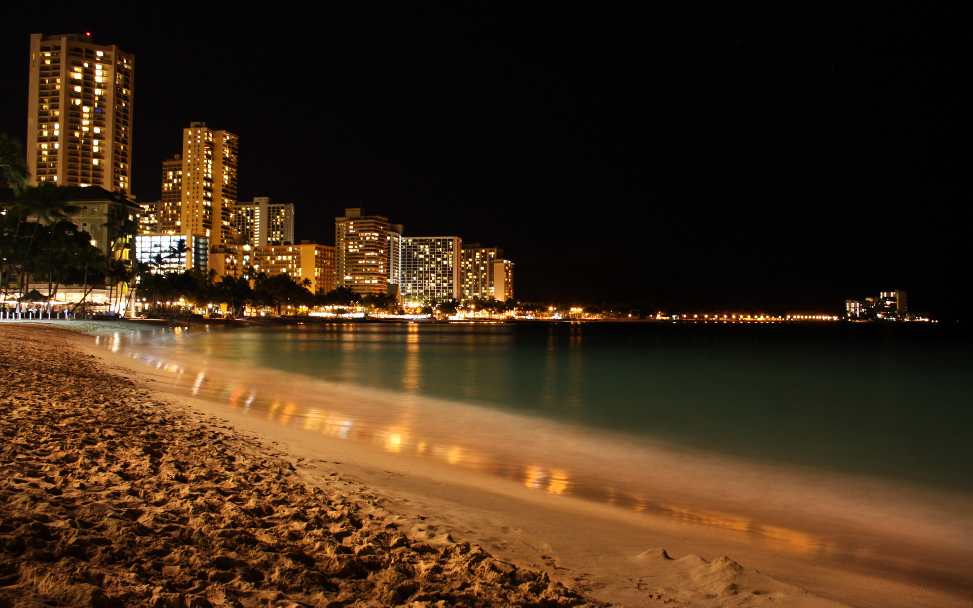 1920x1200 Night Beach Wallpaper Full HD With Wallpapers Wide Resolution  px  672.12 KB