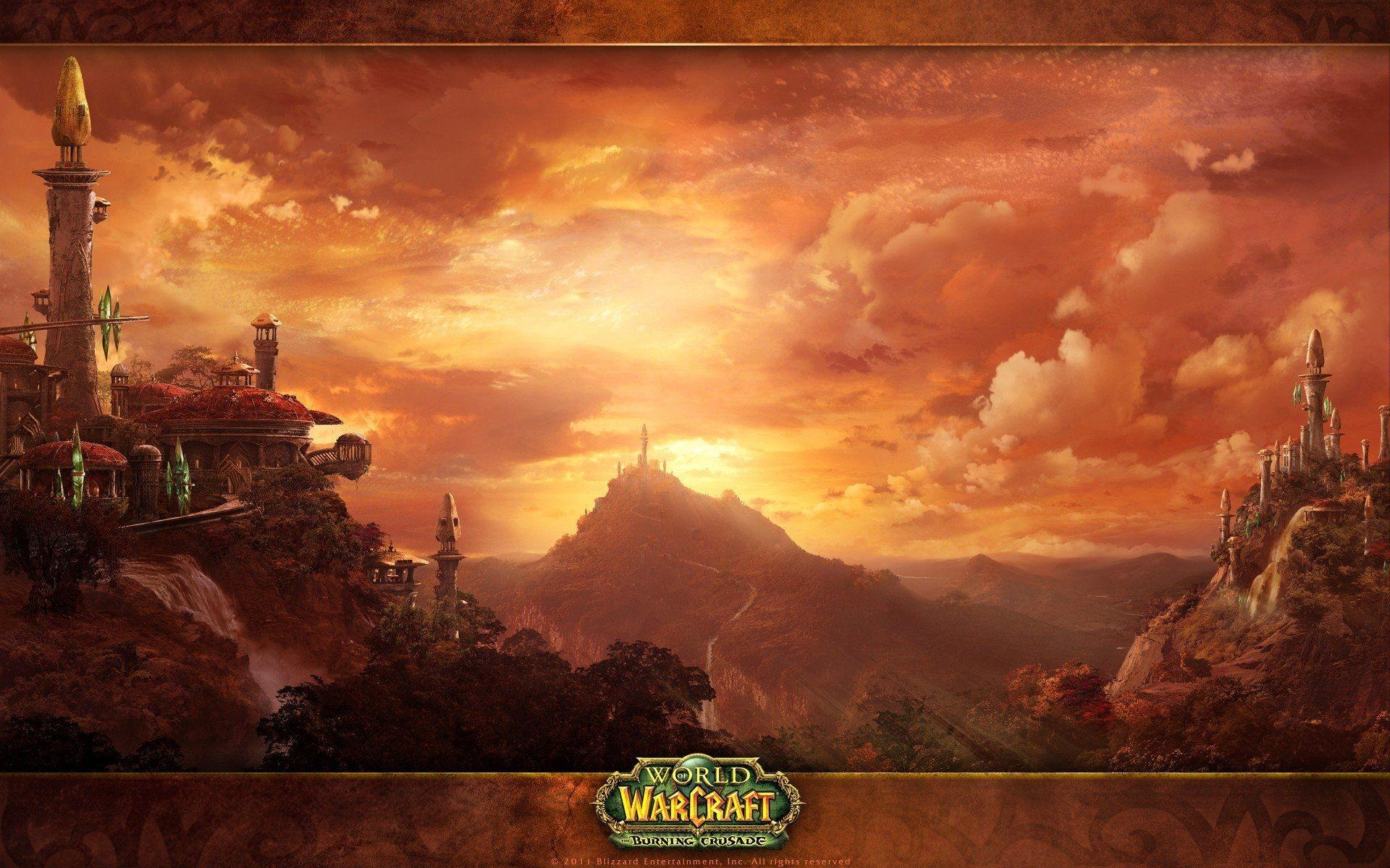 1920x1200 Video games World of Warcraft Blizzard Entertainment burning .