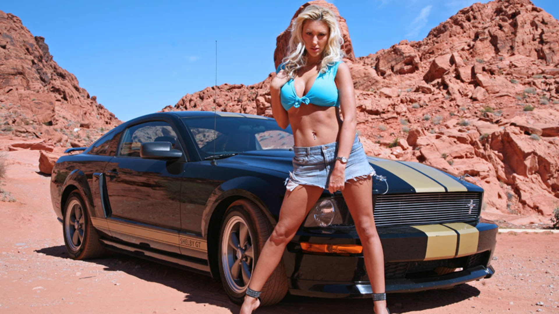 1920x1080 HOT girls and mustangs | Hot girl with hot ford mustang wallpaper