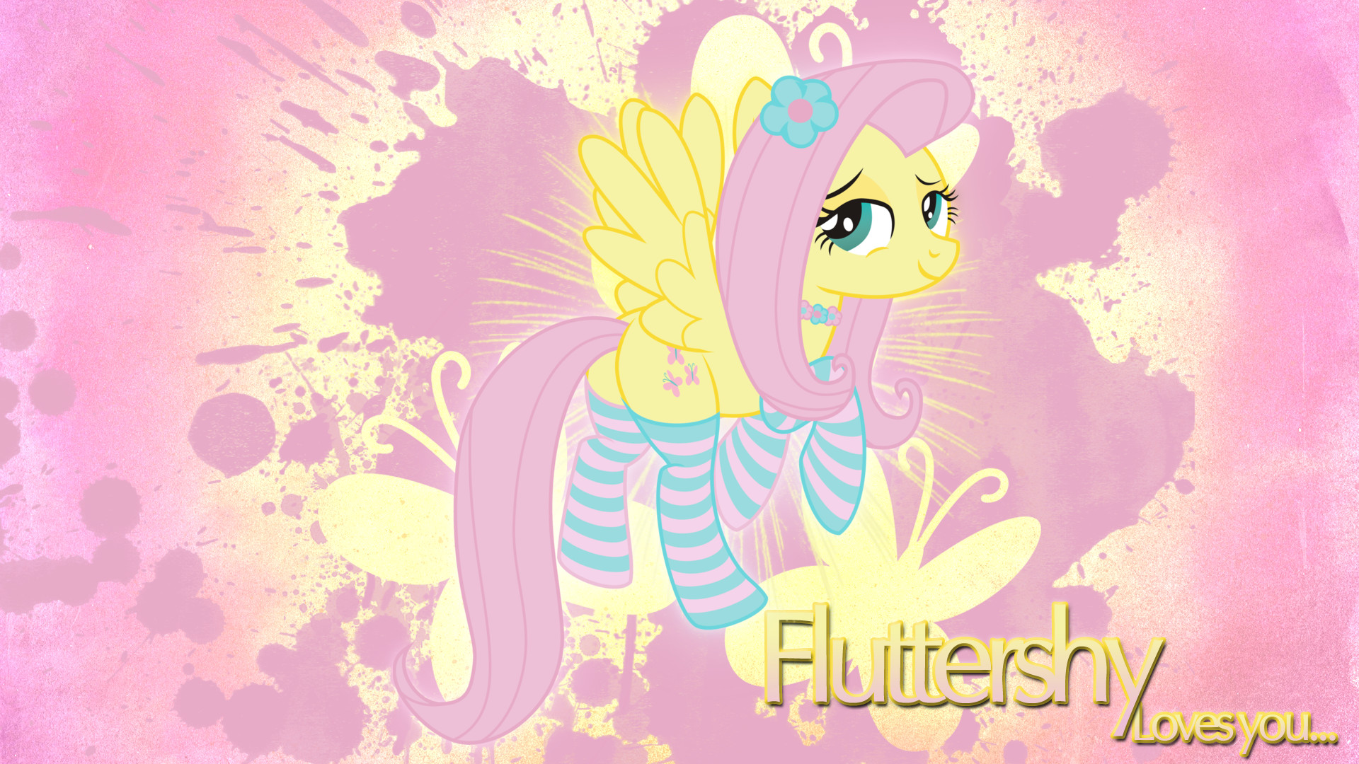 1920x1080 ... Fluttershy 'Sexy' Wallpaper by BlueDragonHans