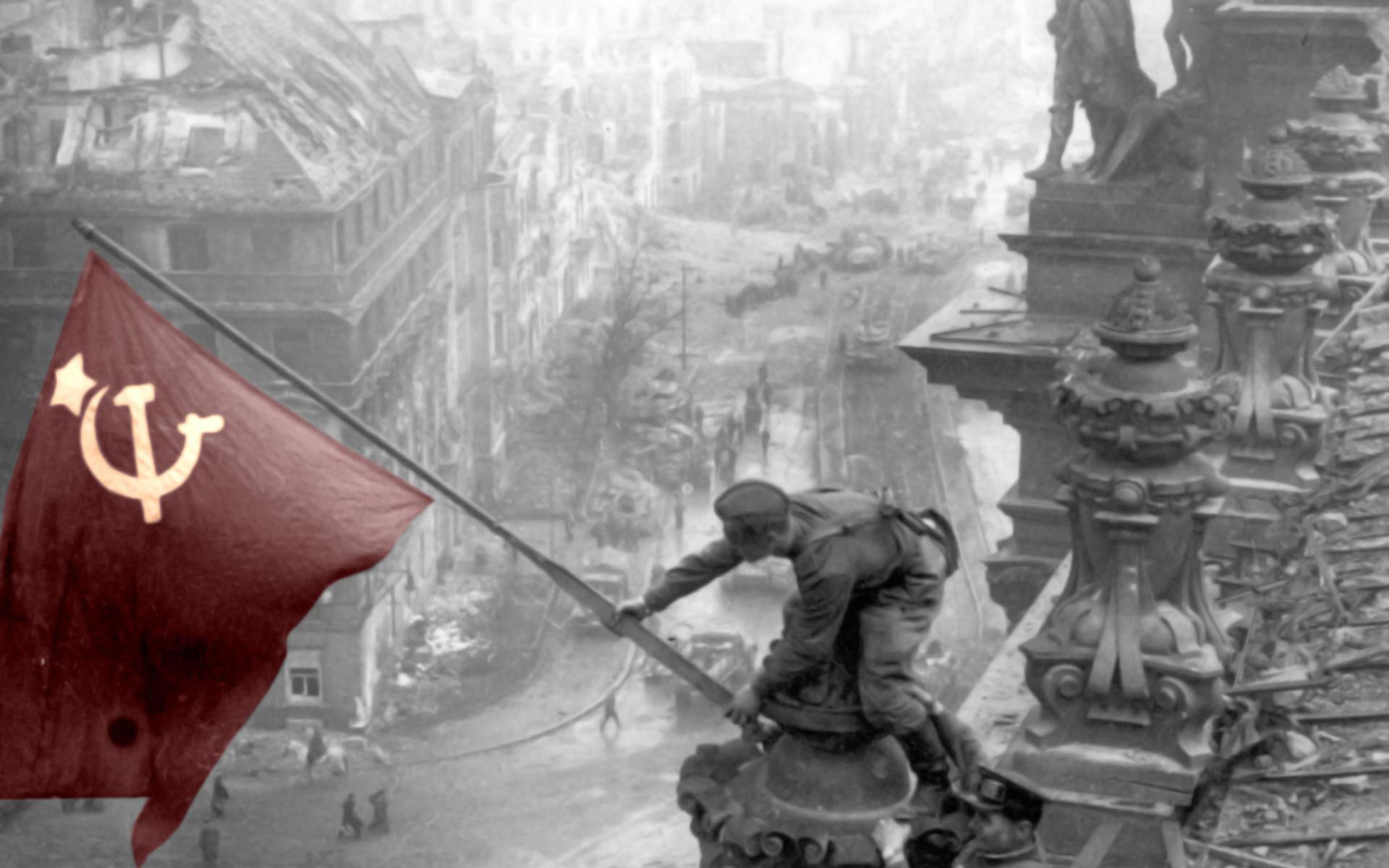 Ussr Flag Ww2 World War Ii Wallpaper...