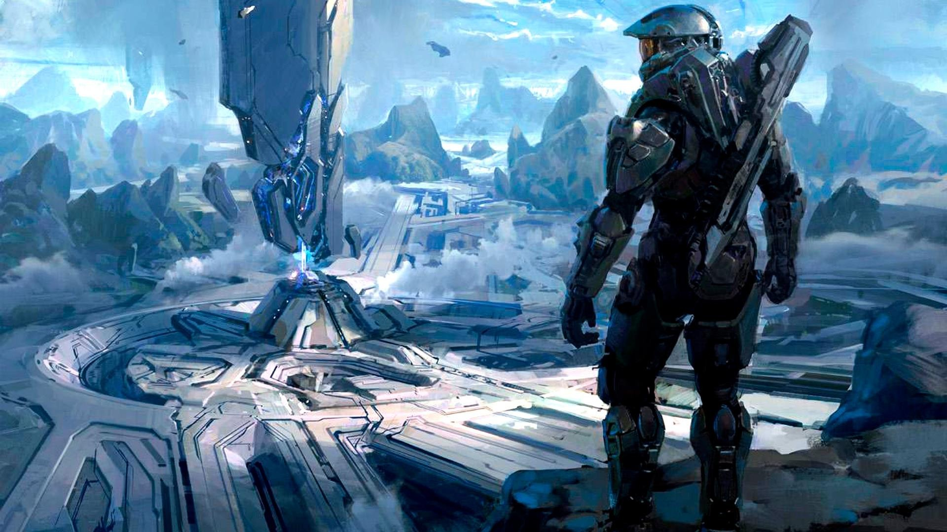 1920x1080 Halo, Master Chief, digital art, concept art, science fiction .