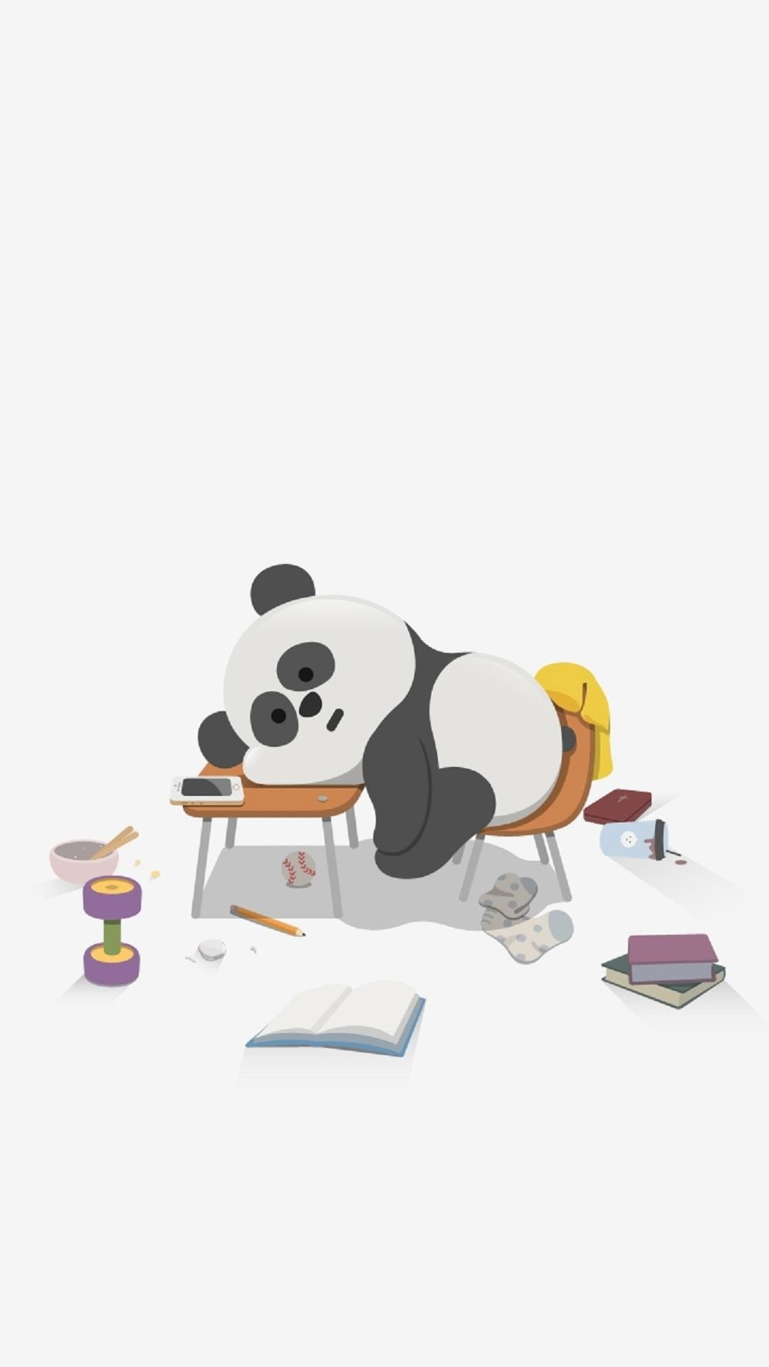 1080x1920 Cute-Sleepy-Panda-Cute-Animal-iPhone-Tap-to-