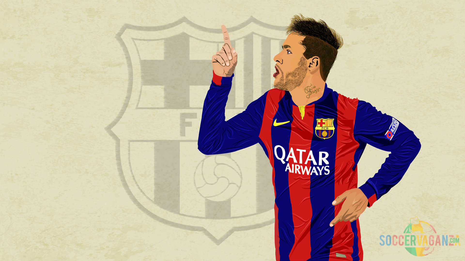 1920x1080 Download Awesome Wallpaper Neymar Jr 2016 | Soccer Vaganza