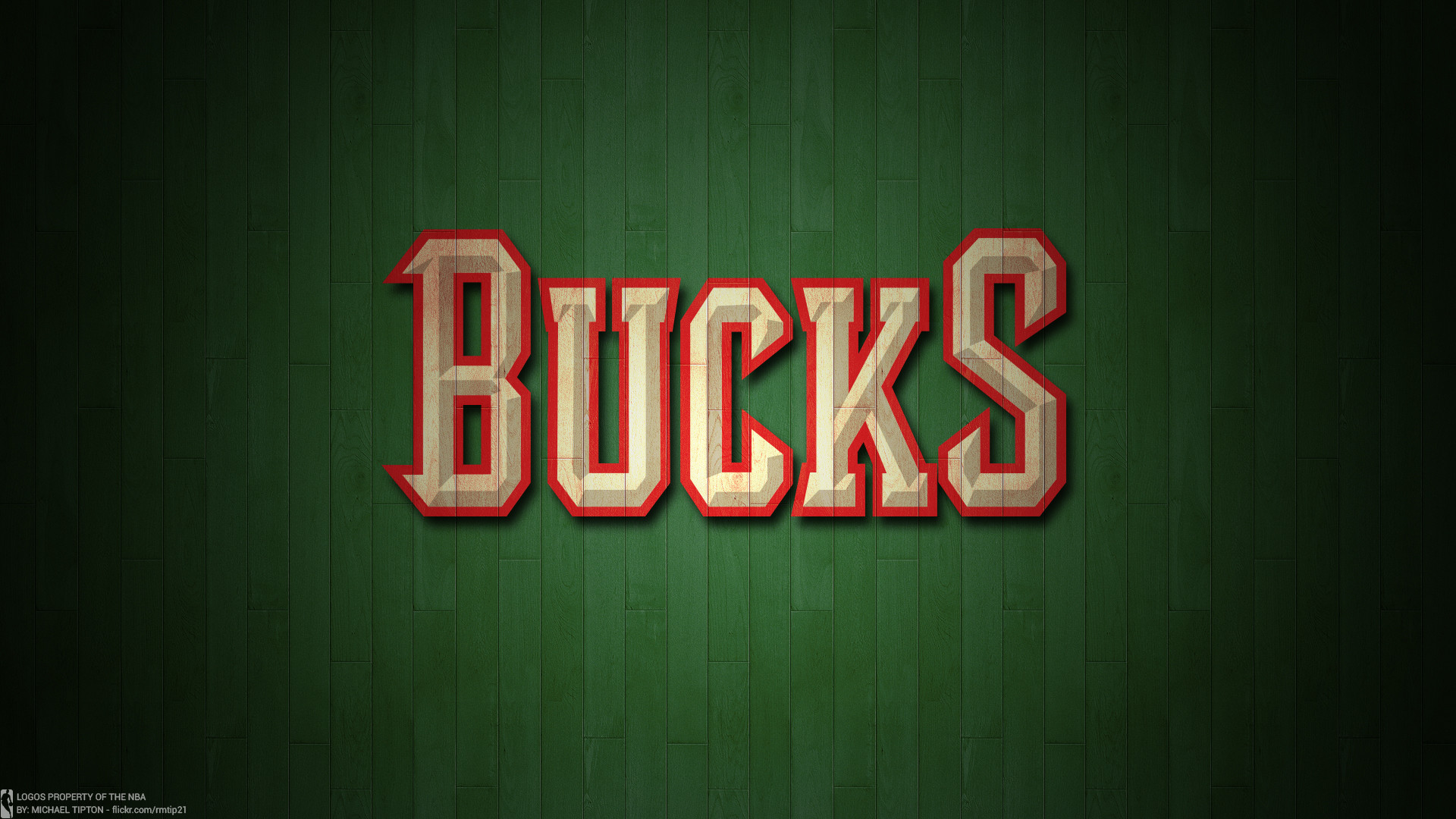 1920x1080 ... NBA 2017 Milwaukee Bucks hardwood logo desktop wallpaper