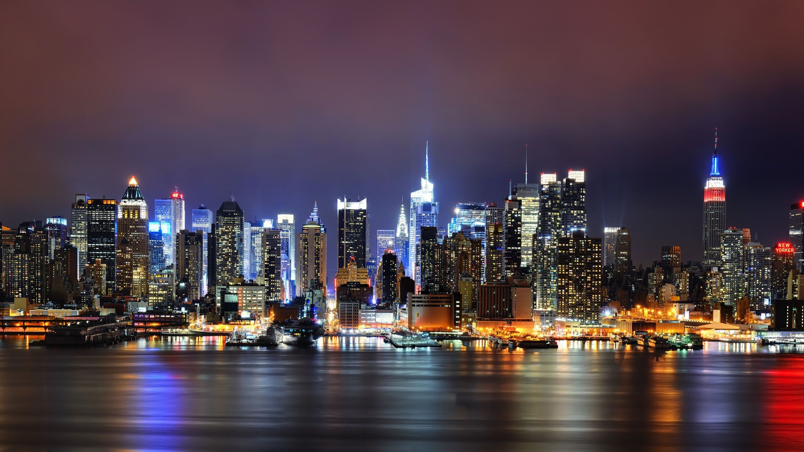 2560x1440 nyc skyline at night - Google Search