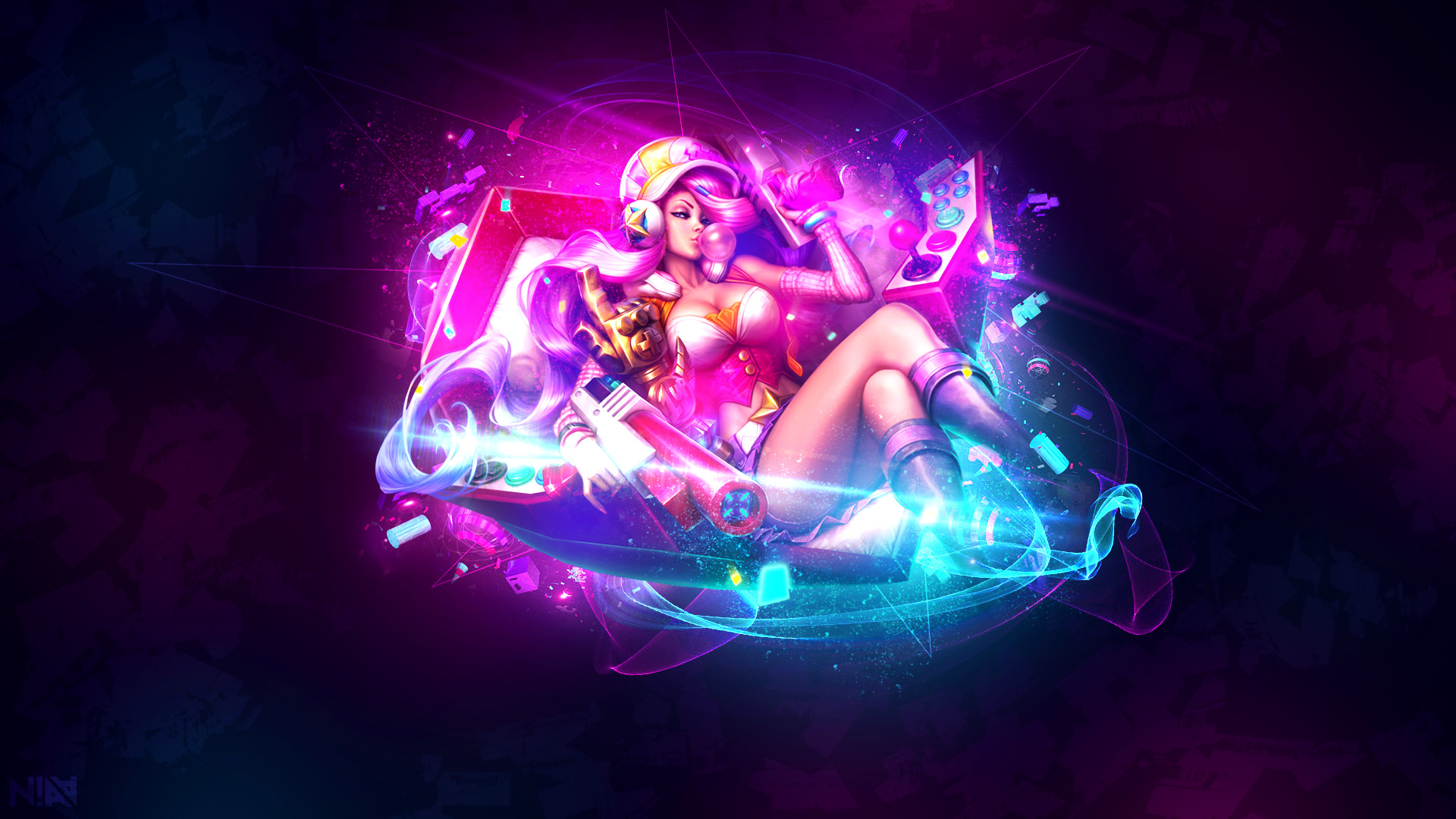 1920x1080 ... Arcade Miss Fortune - Wallpaper by AliceeMad