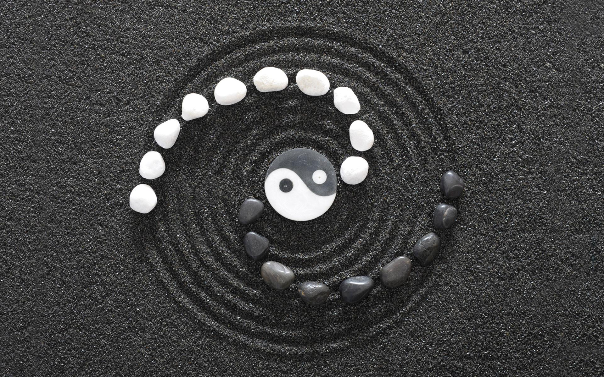 1920x1200 Yin And Yang Spiral