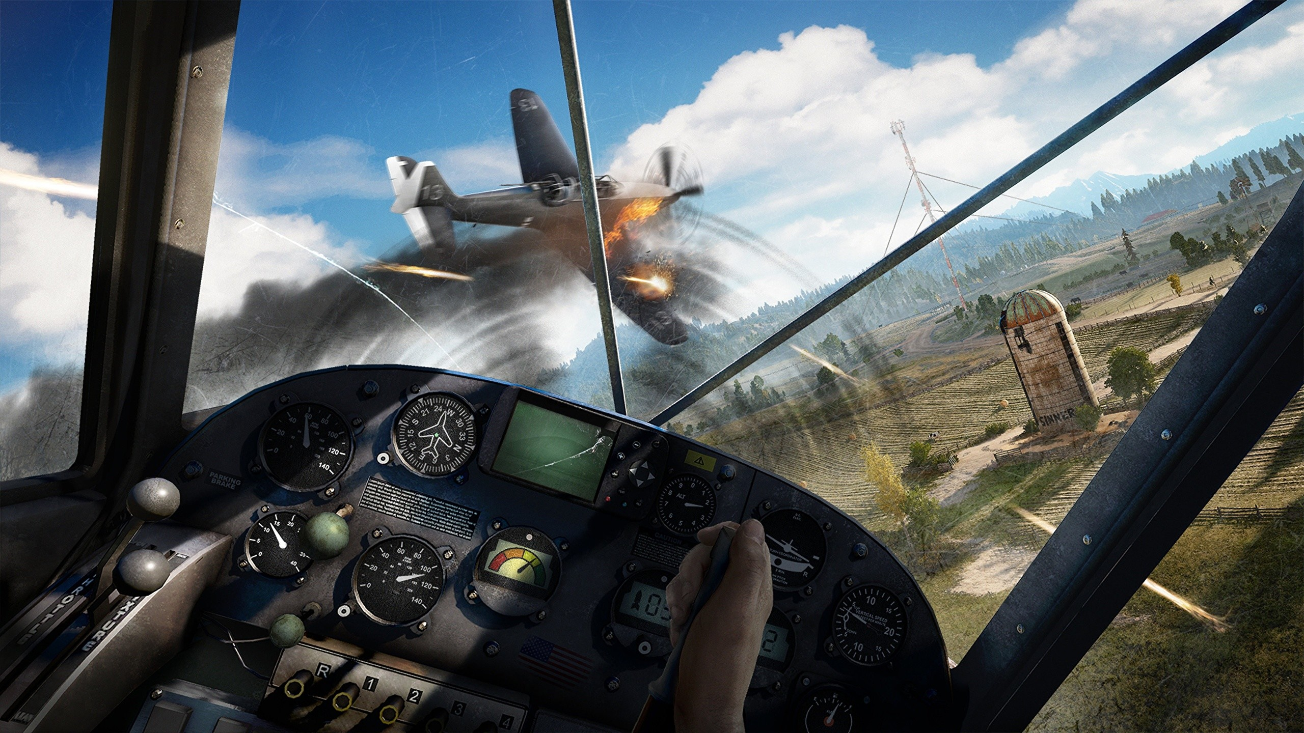 2560x1440 Pictures Far Cry 5 Airplane Cockpit Games Flight