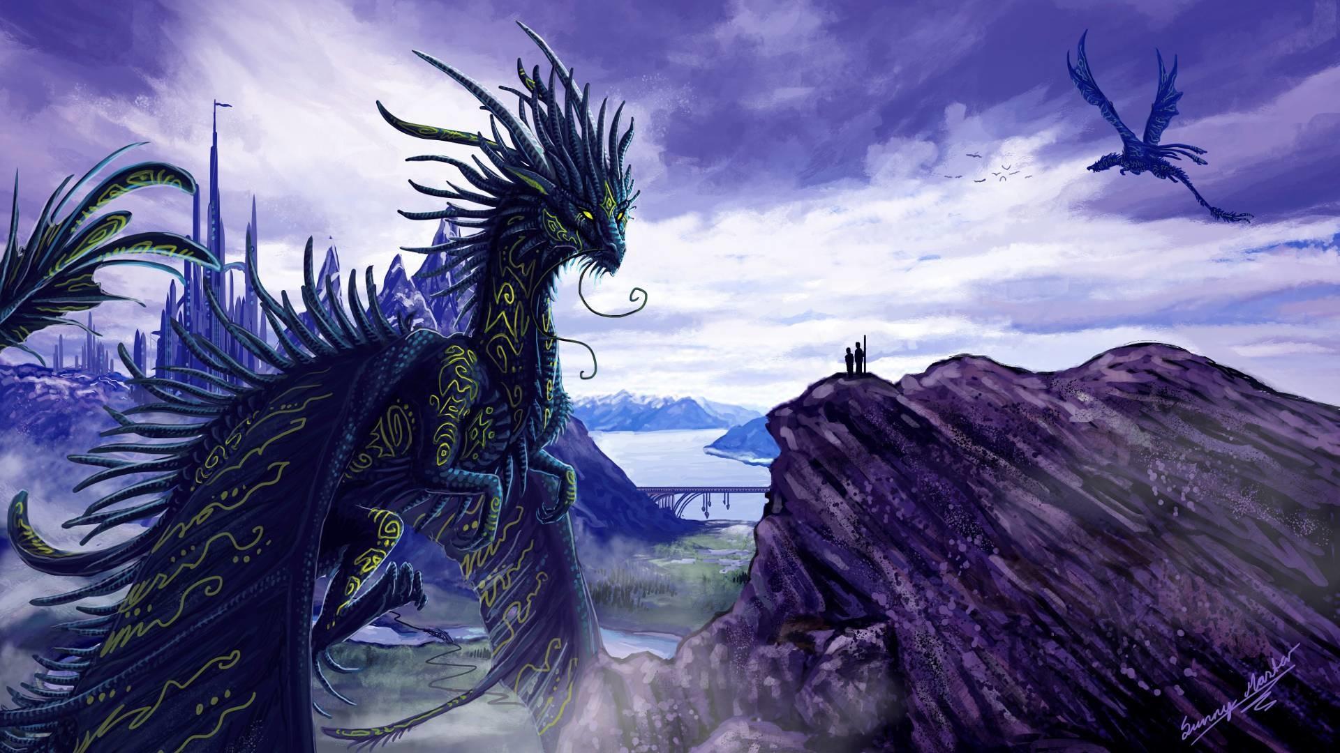 X Blue Dragon Wallpapers  Dfiles I Luv Dragons Pinterest