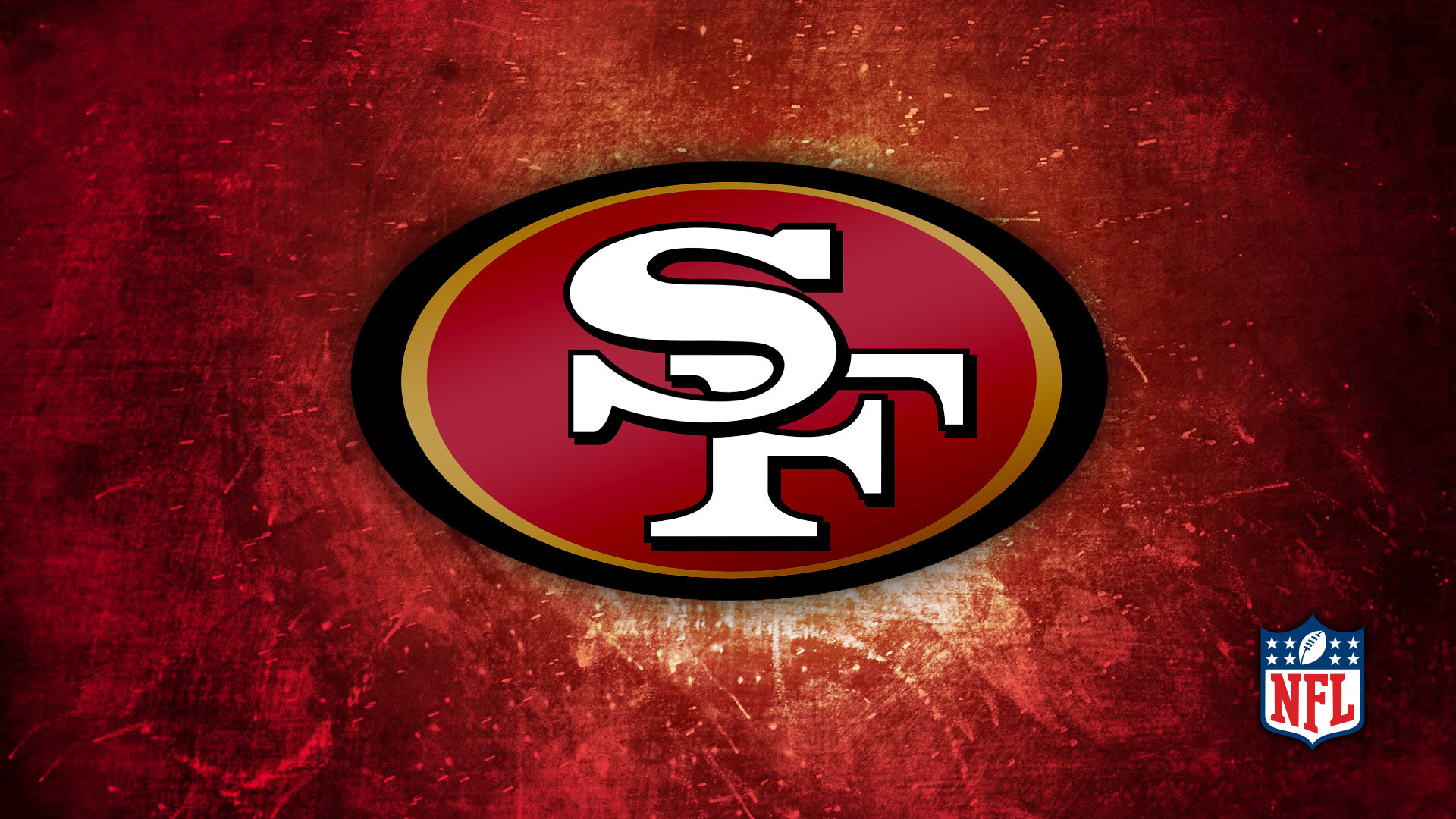 1920x1080 49ers Red & Gold Logo  HD Image Sports / NFL Football