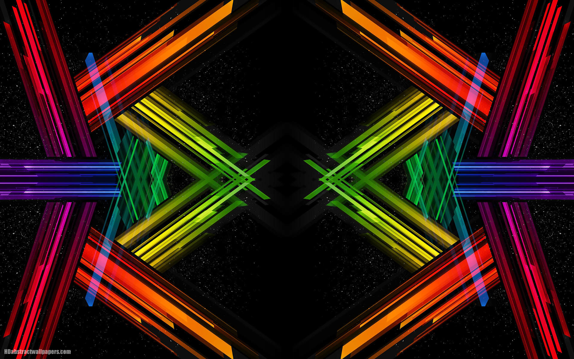 1920x1200 Black abstract wallpaper with color.