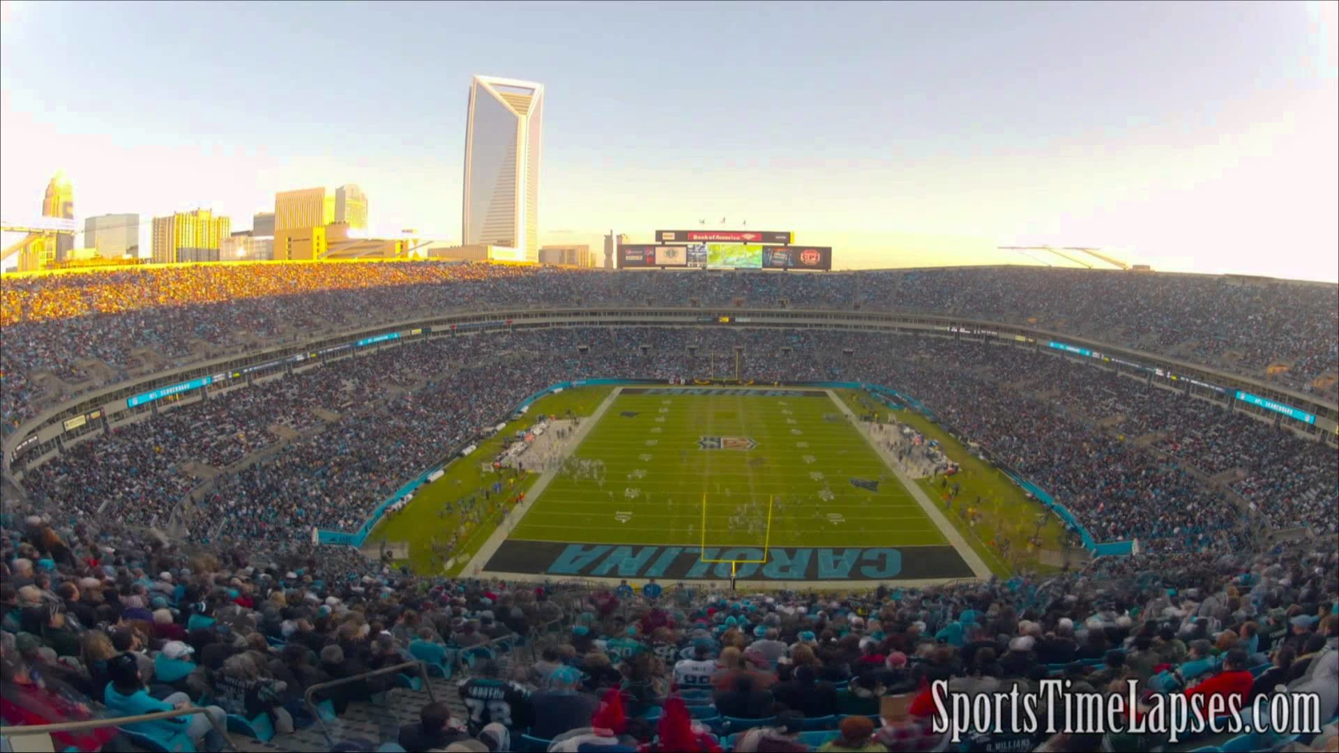 1920x1080 NFL Time Lapse: Bank of America Stadium (Carolina Panthers - End Zone) -  YouTube