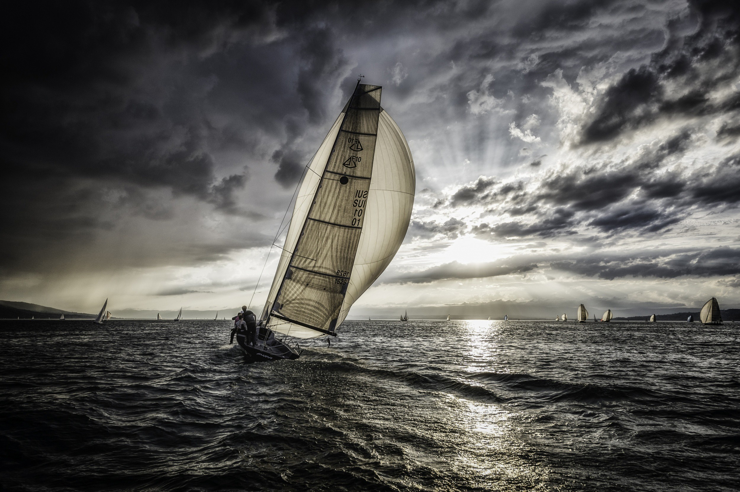 2500x1663 sea, Water, Sports, Sailing Wallpapers HD / Desktop and Mobile Backgrounds