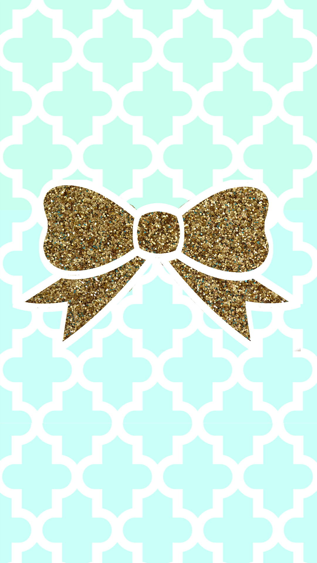 1080x1920 Tiffany blue + gold glitter bow tech wallpaper #FREE