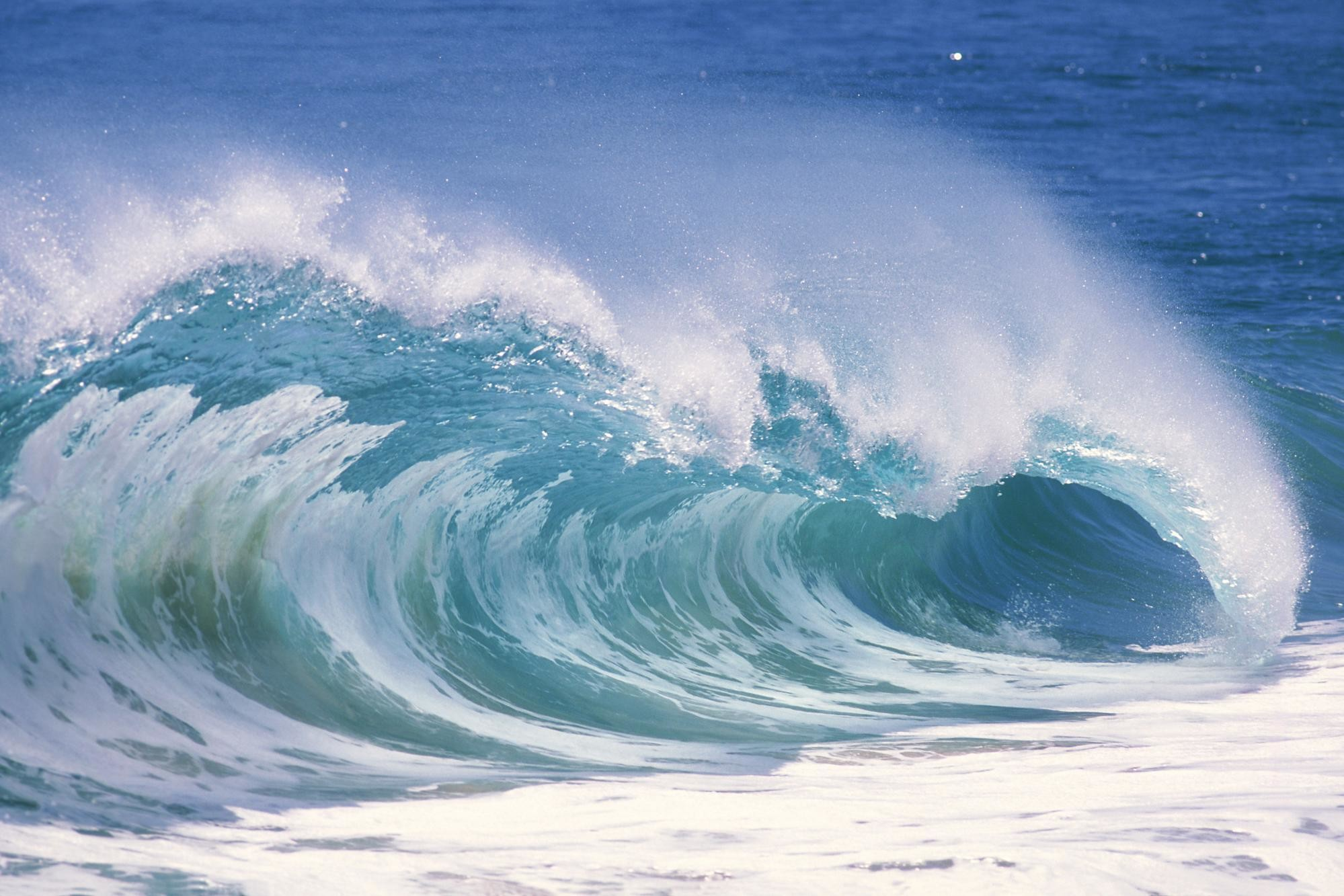 1999x1333 Ocean Waves Wallpaper Desktop Images & Pictures - Becuo