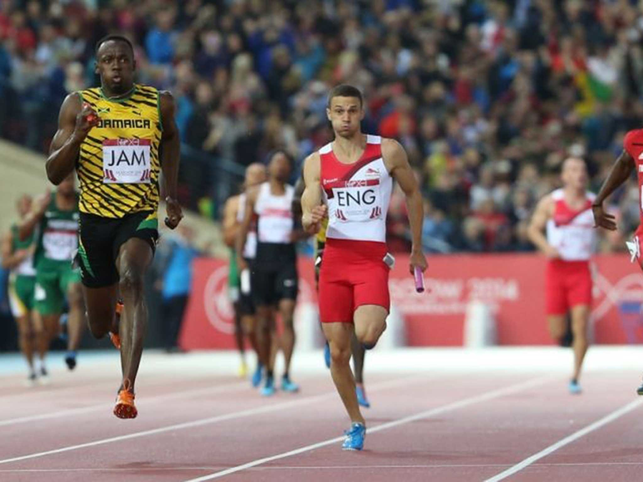 2048x1536 Commonwealth Games 2014: Show stopper Usain Bolt takes giant strides to win  4x100m relay final | The Independent