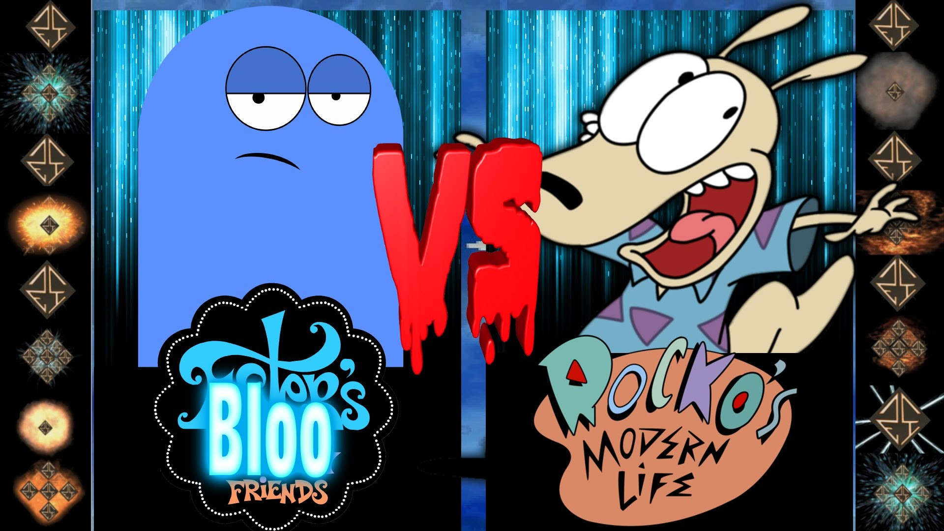 1920x1080 Bloo (Foster's Home For Imaginary Friends) vs Rocko (Nickelodeon) -  Ultimate Mugen Fight 2016