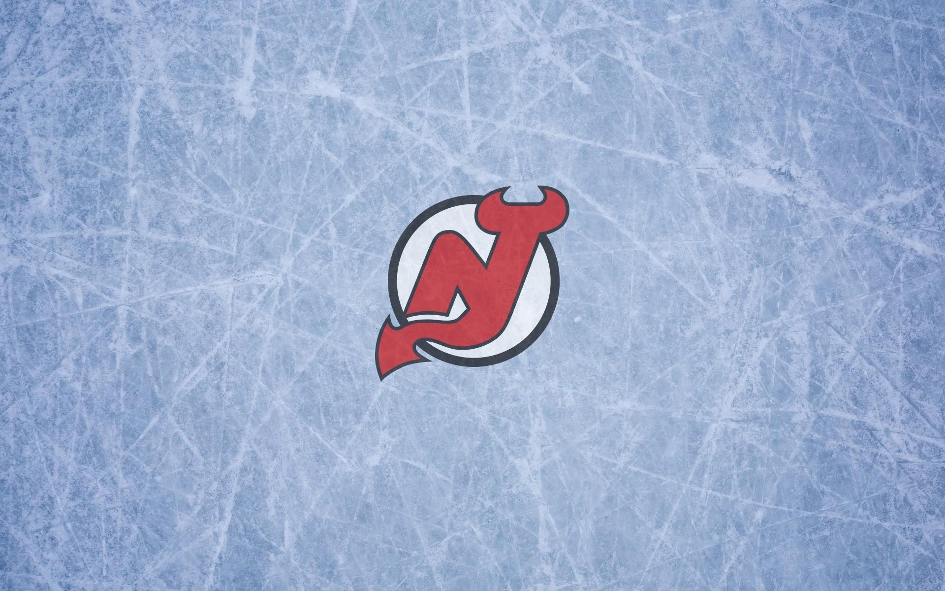 1920x1200 New Jersey Devils wallpaper with logo on the ice, widescreen, ,  16x10