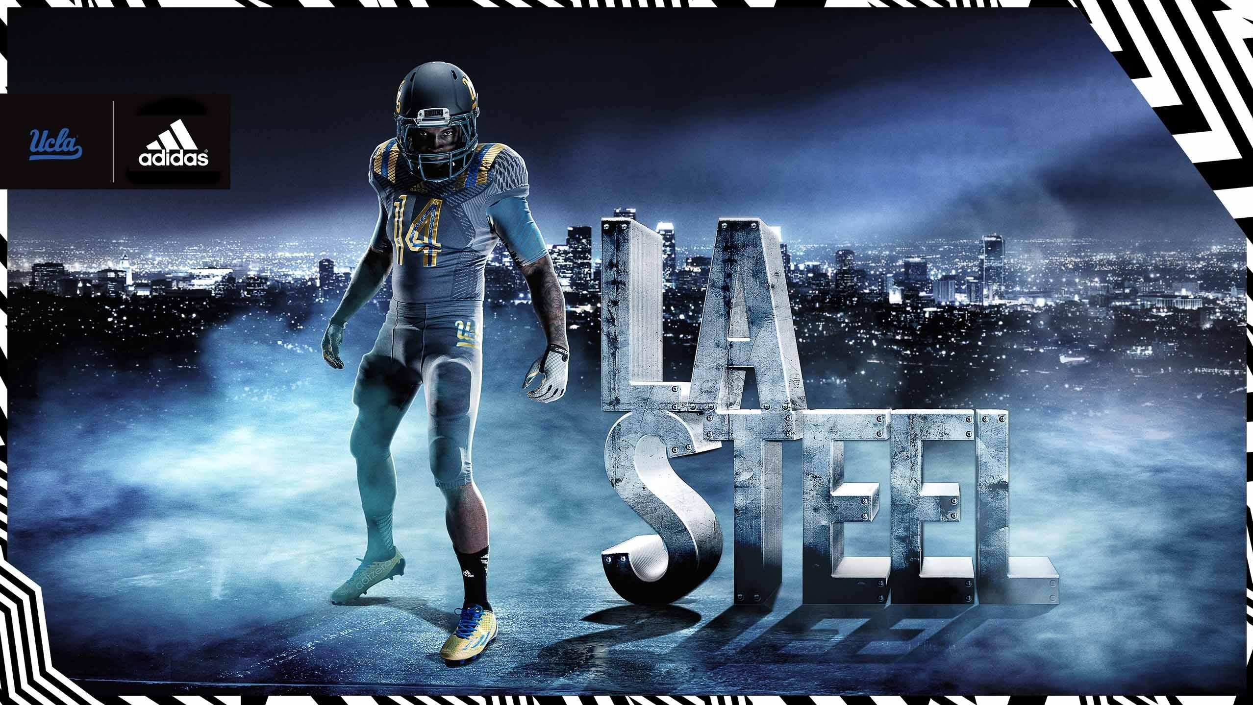 "2556x1440 ALTERNATE JERSEY: The new ""LA Steel"" look marks the first grey uniform in  school history and will be worn during a select football game this year."