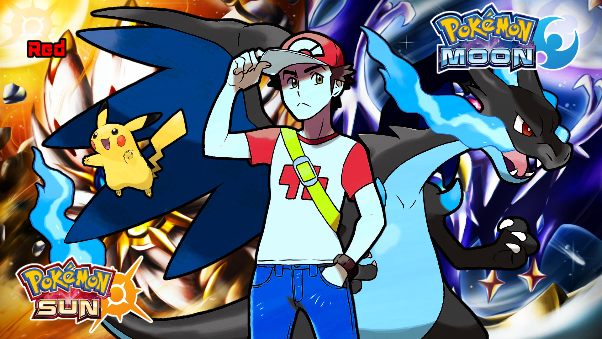 red vs blue sun and moon - photo #44