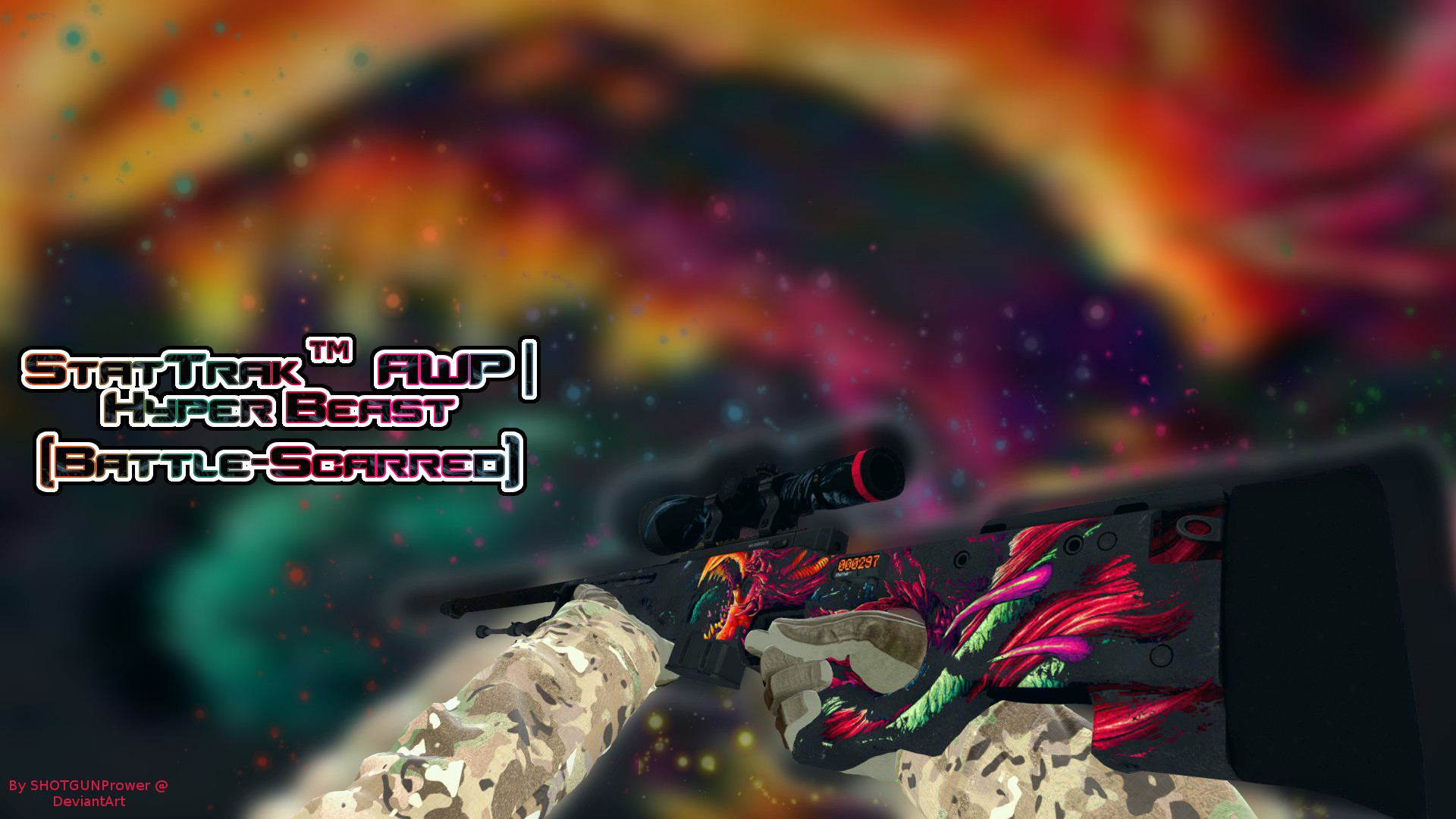 1920x1080 StatTrak AWP Hyper Beast Battle Scarred by SHOTGUNPrower on