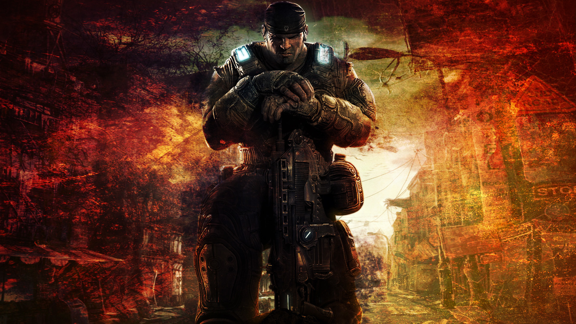 1920x1080 Gears of War 3 HD Wallpaper