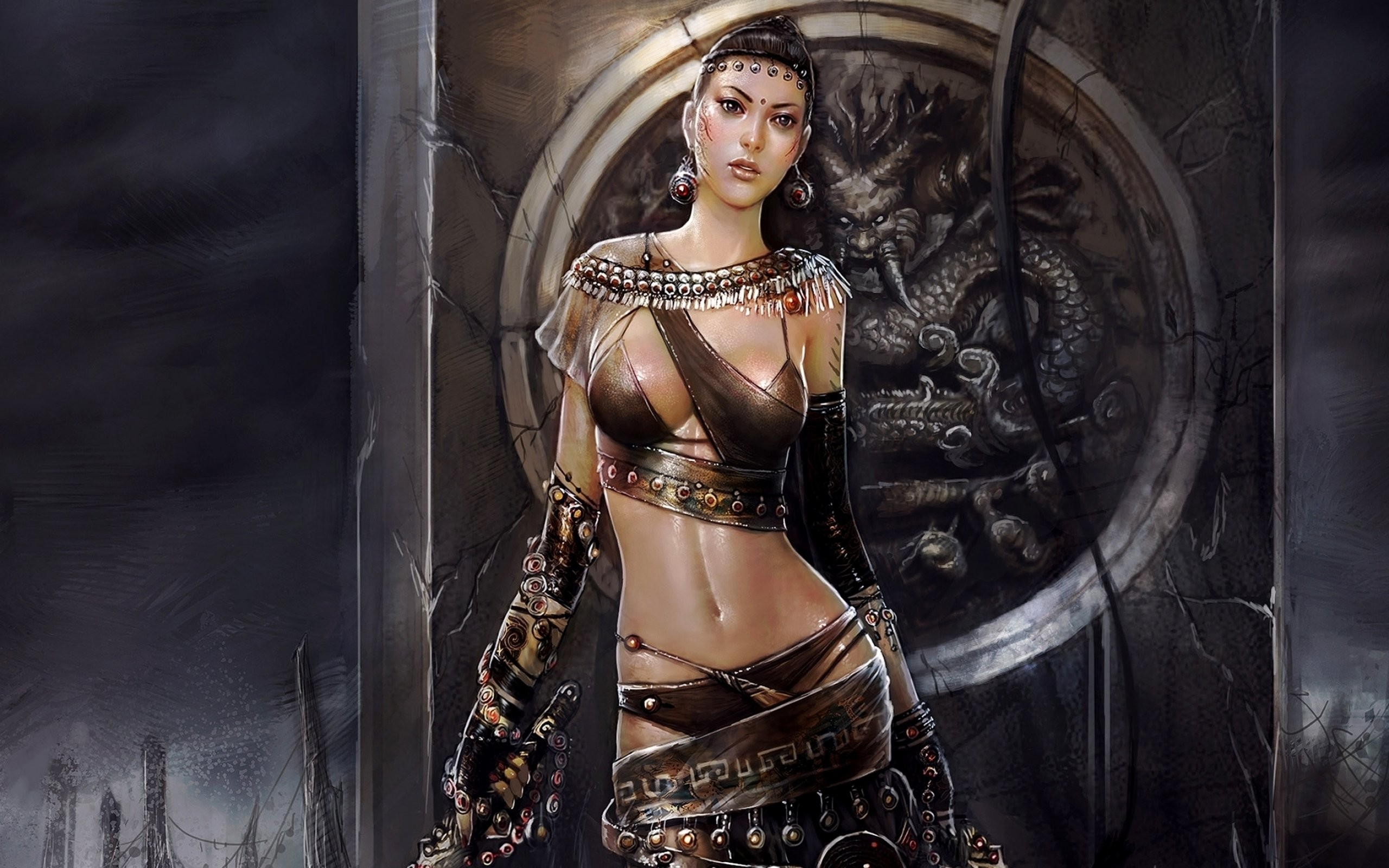 2560x1600 LUIS ROYO fantasy warrior painting art sexy babe wallpaper |  |  407512 | WallpaperUP