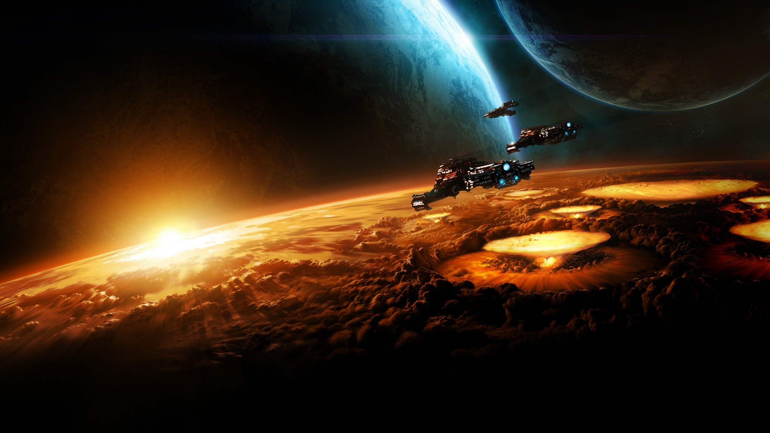 2560x1440 ... video games starcraft eships blizzard entertainment ...