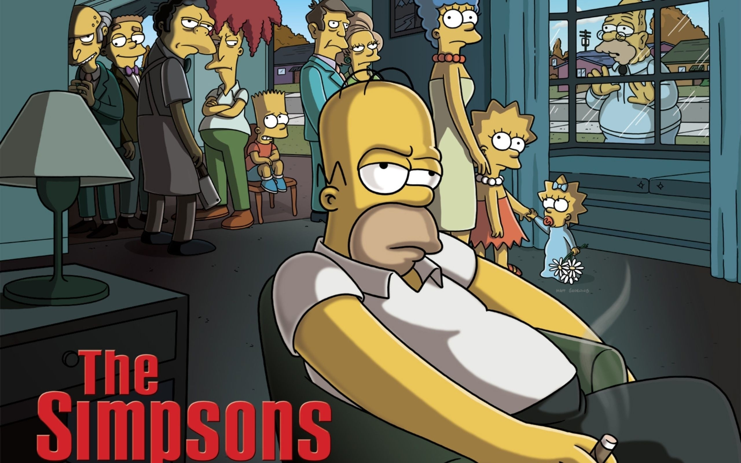 2560x1600 Cartoons funny the simpsons carton the sopranos wallpaper