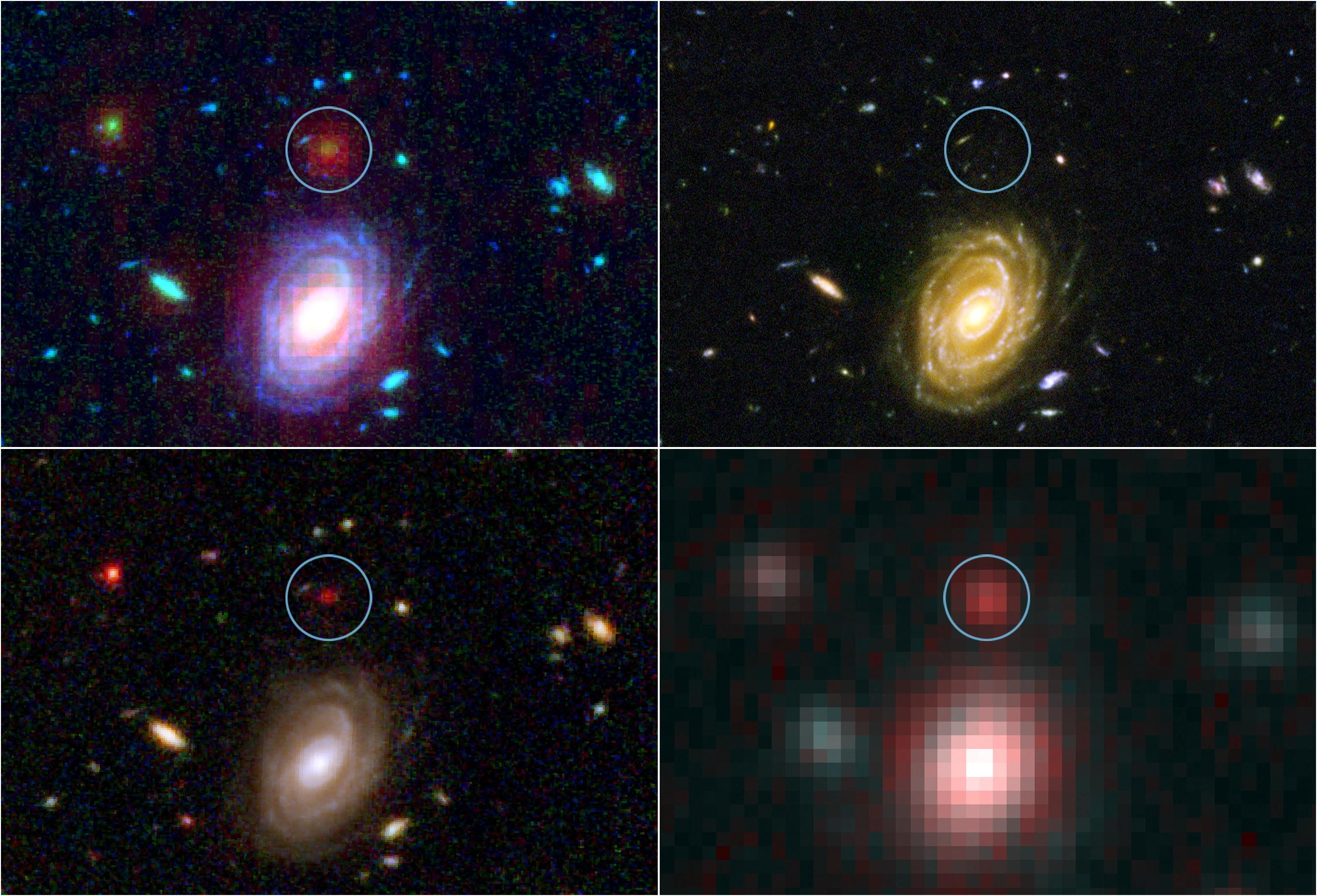 2699x1838 This image demonstrates how data from two of NASA's Great Observatories,  the Spitzer and Hubble