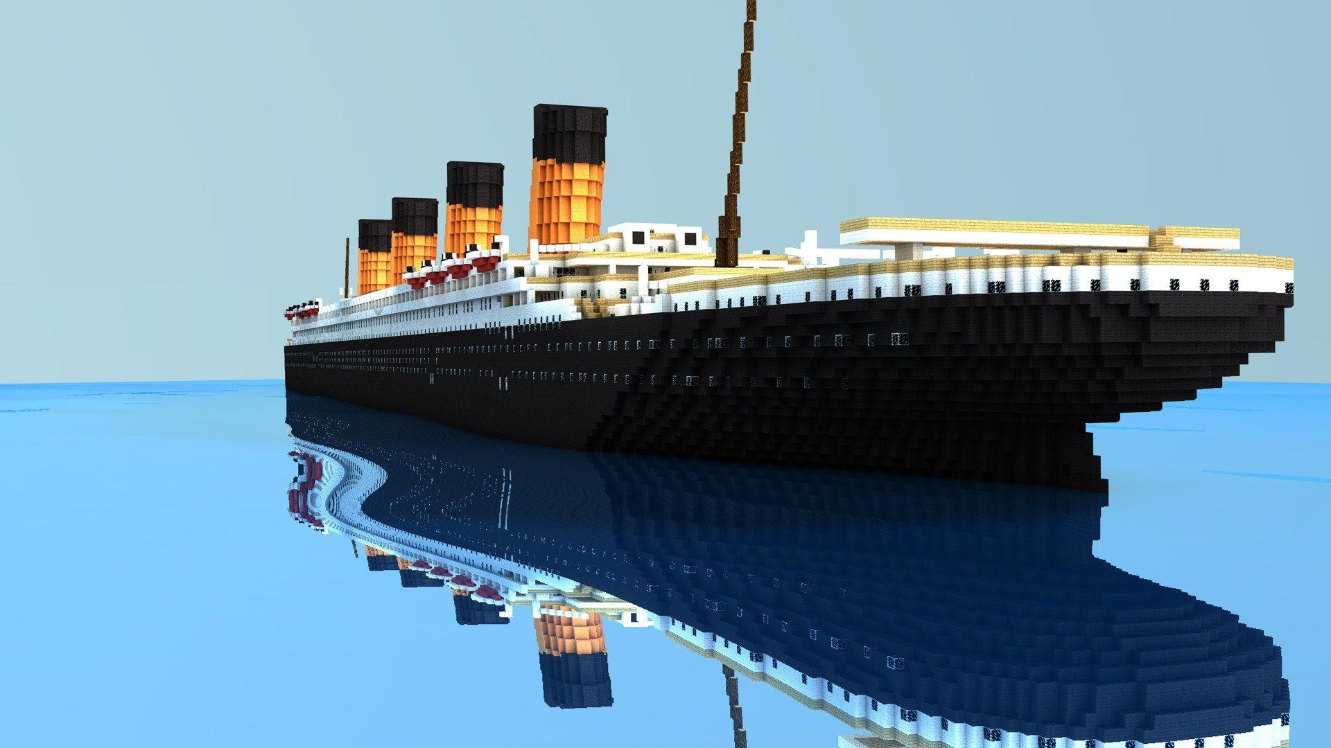 1920x1080 Ocean Old Titanic Minecraft Realistic, Lb Photo Realism, Minecraft Lb  Photo, Photo Realism Minecraft, Games, Wallpaper Of Minecraft, Minecraft Hd  Wallpaper, ...
