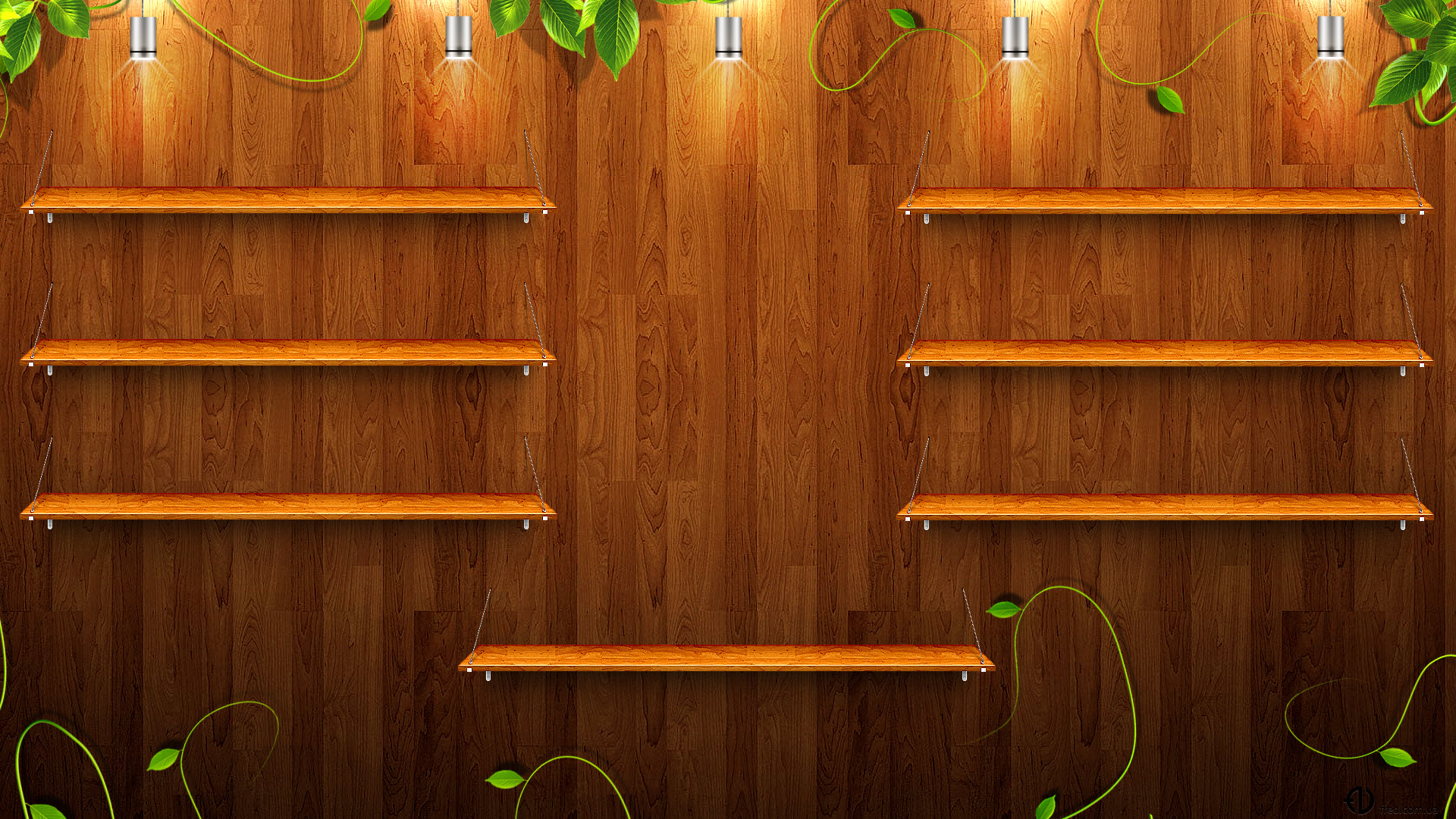 1920x1080 Wooden shelves wallpapers and images - wallpapers, pictures, photos