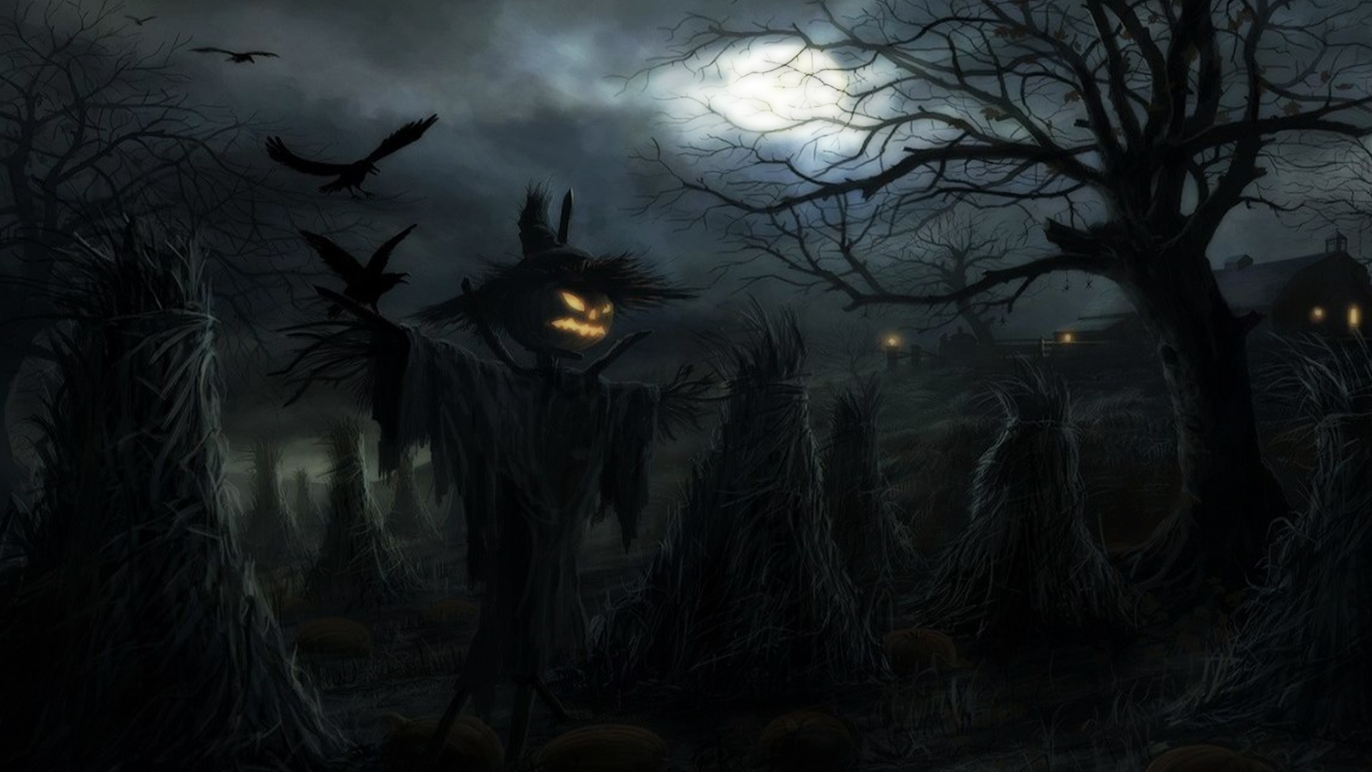 1920x1080 Scary Halloween HD Backgrounds.