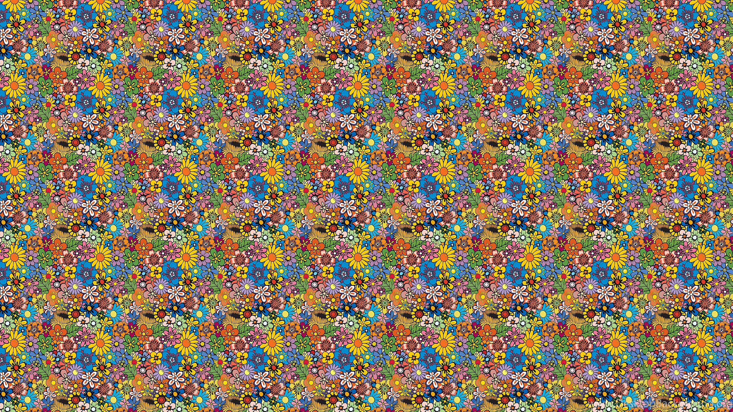 2560x1440 Flowers From Hippies Desktop Wallpapers