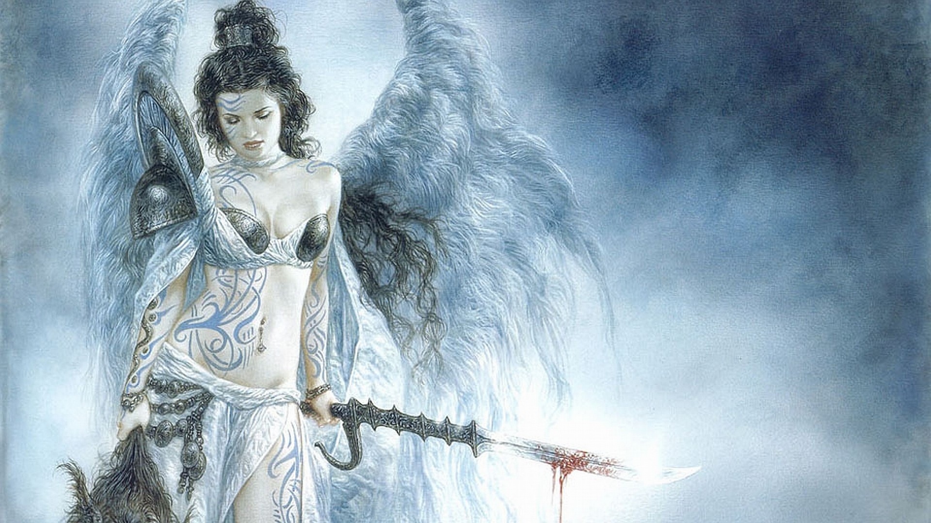 1920x1080 Luis Royo images Angel Warrior HD wallpaper and background photos