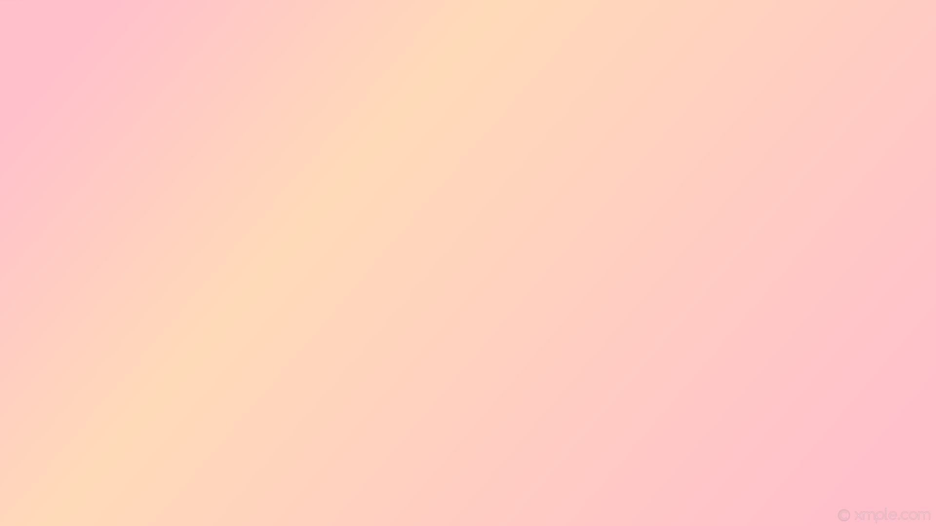 1920x1080 wallpaper linear highlight gradient yellow pink peach puff #ffc0cb #ffdab9  345° 67%
