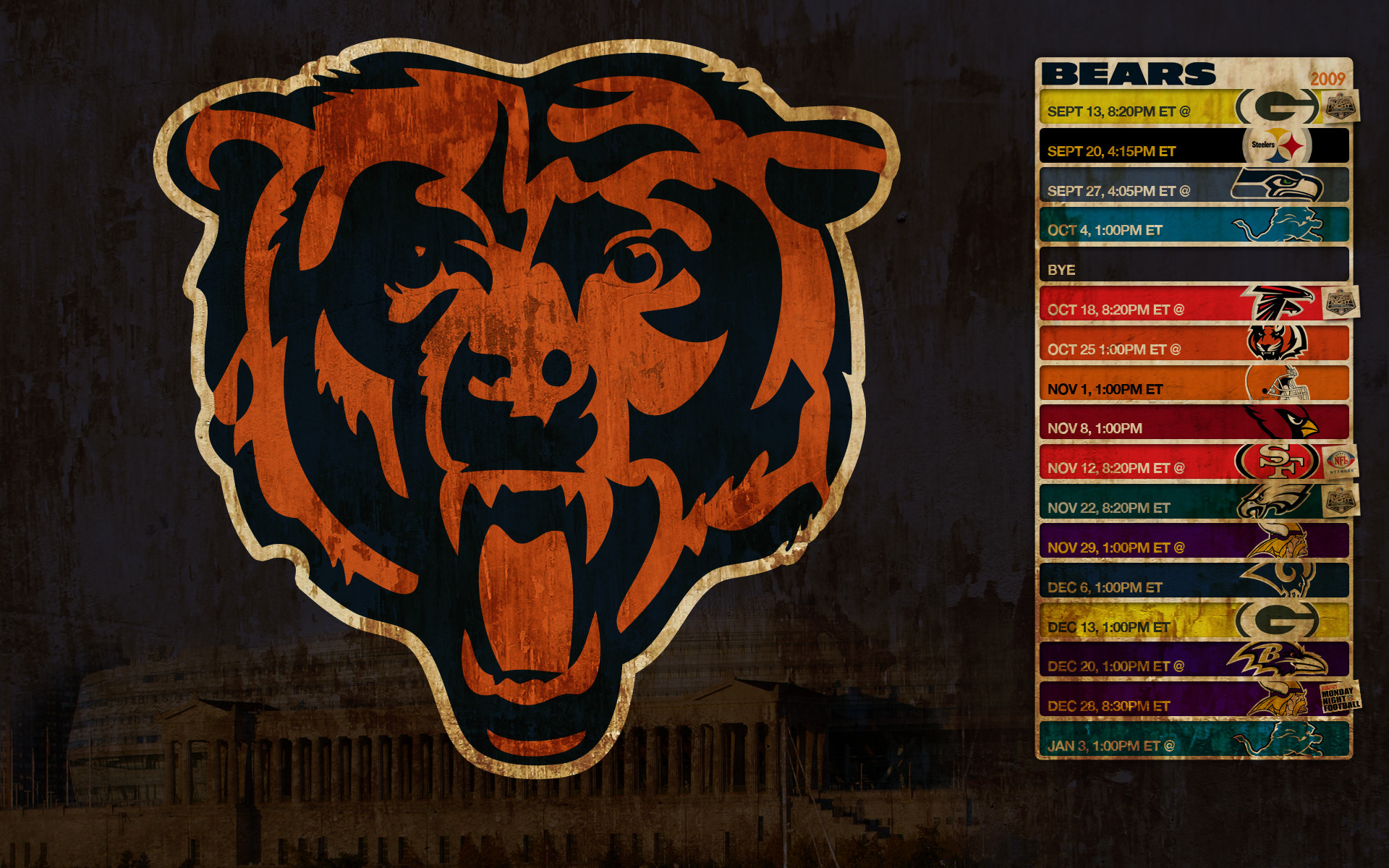 Chicago Sports Wallpaper Iphone 6: Chicago Bears Soldier Field Wallpaper (56+ Images