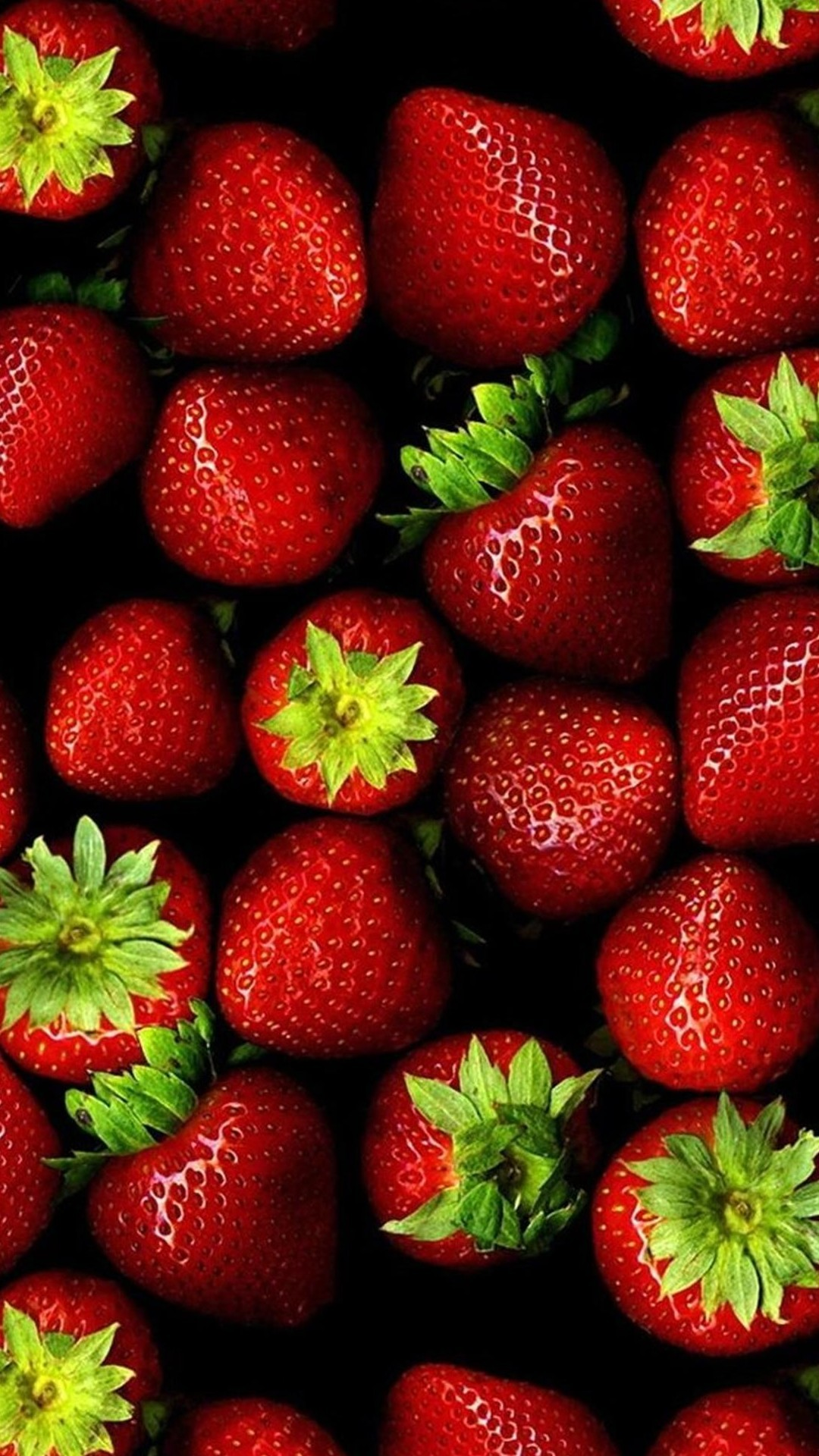 1080x1920 ... fresh strawberries lockscreen android wallpaper free download ...