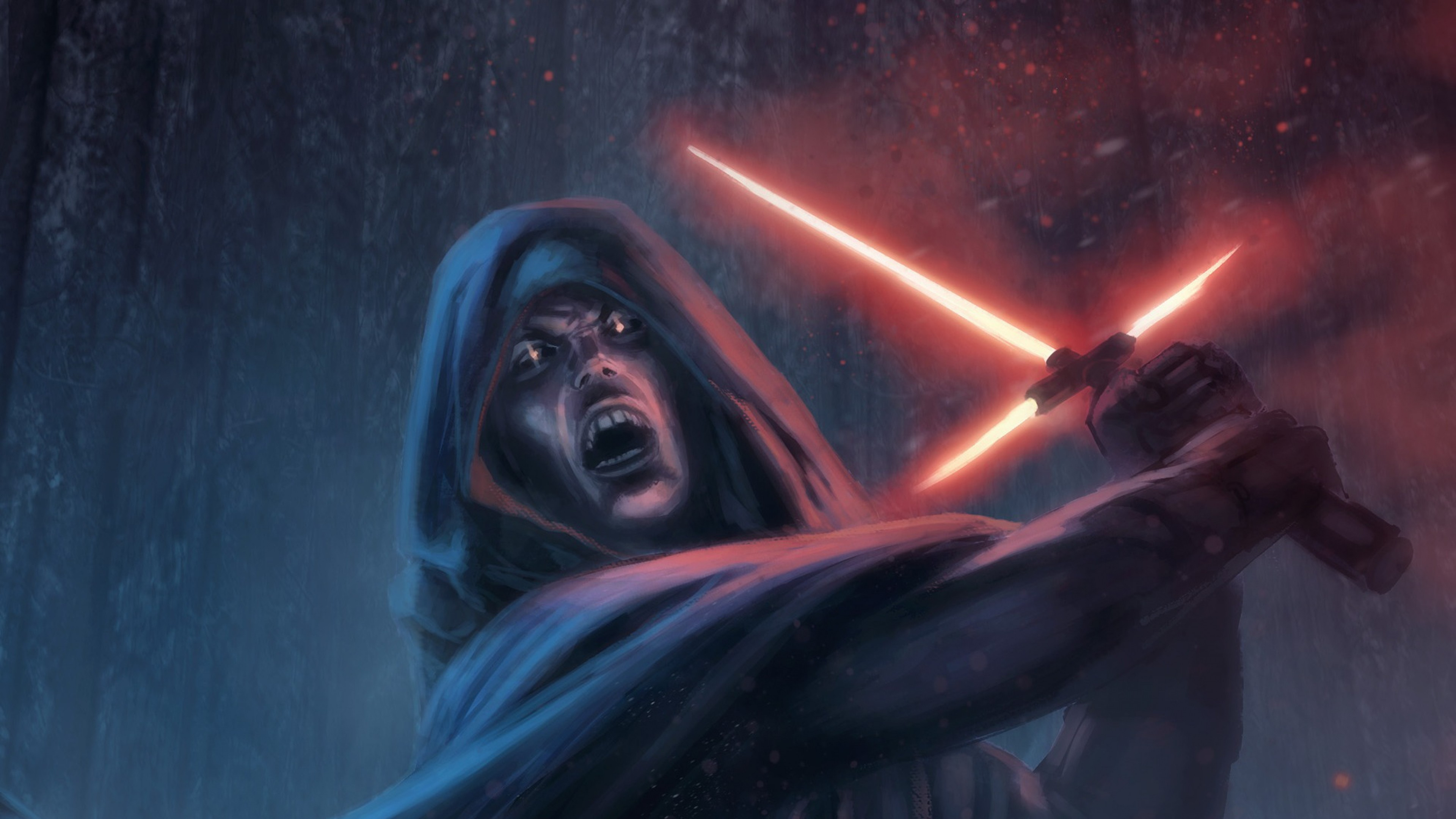 3840x2160 Preview wallpaper star wars episode vii - the force awakens, sith,  lightsaber