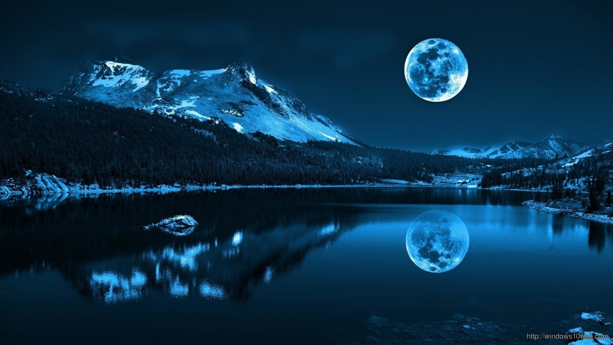 2560x1440 Super Moon Background Wallpaper – windows 10 Wallpapers