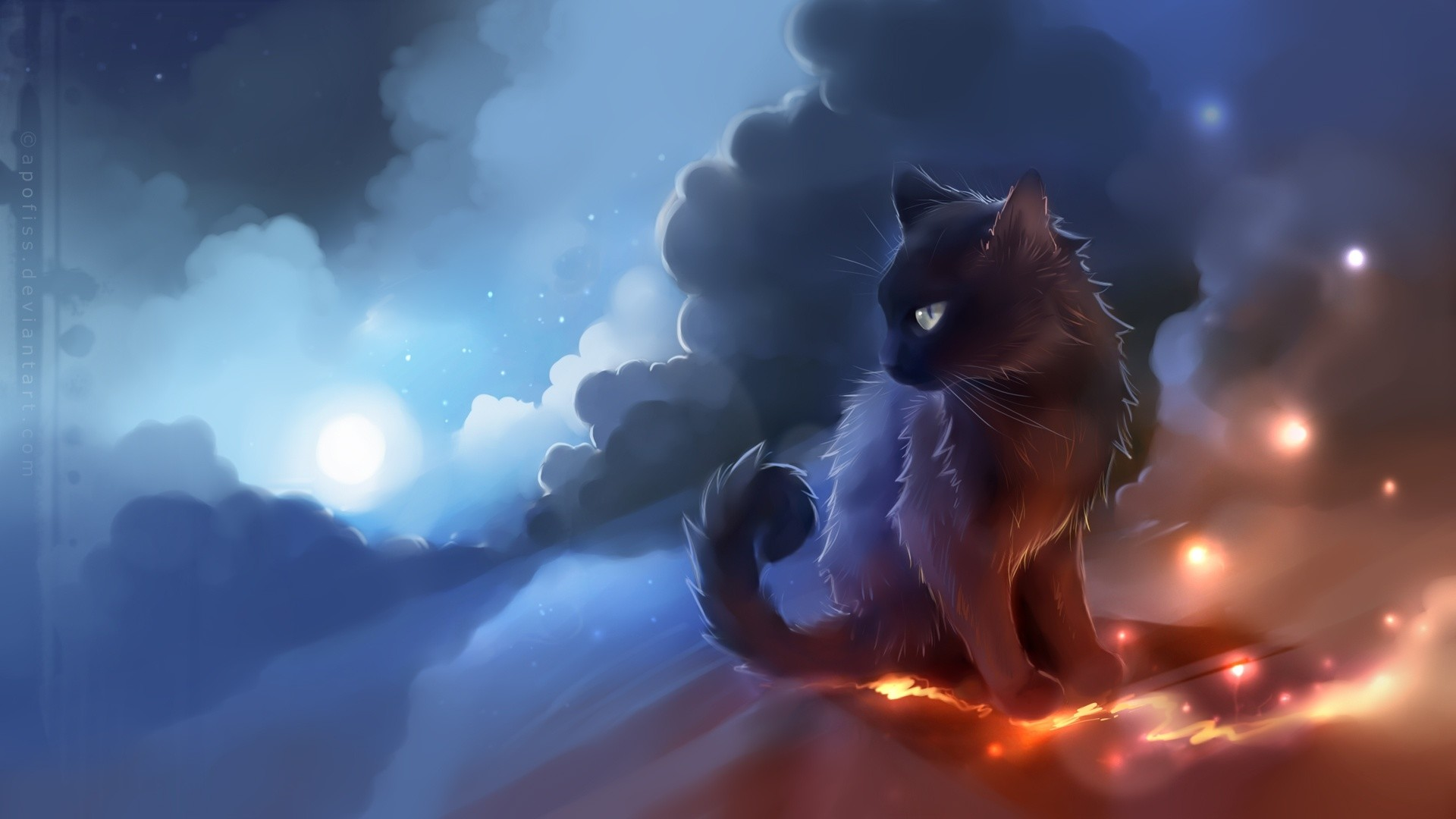 Cute Anime Cat Wallpaper 62 Images