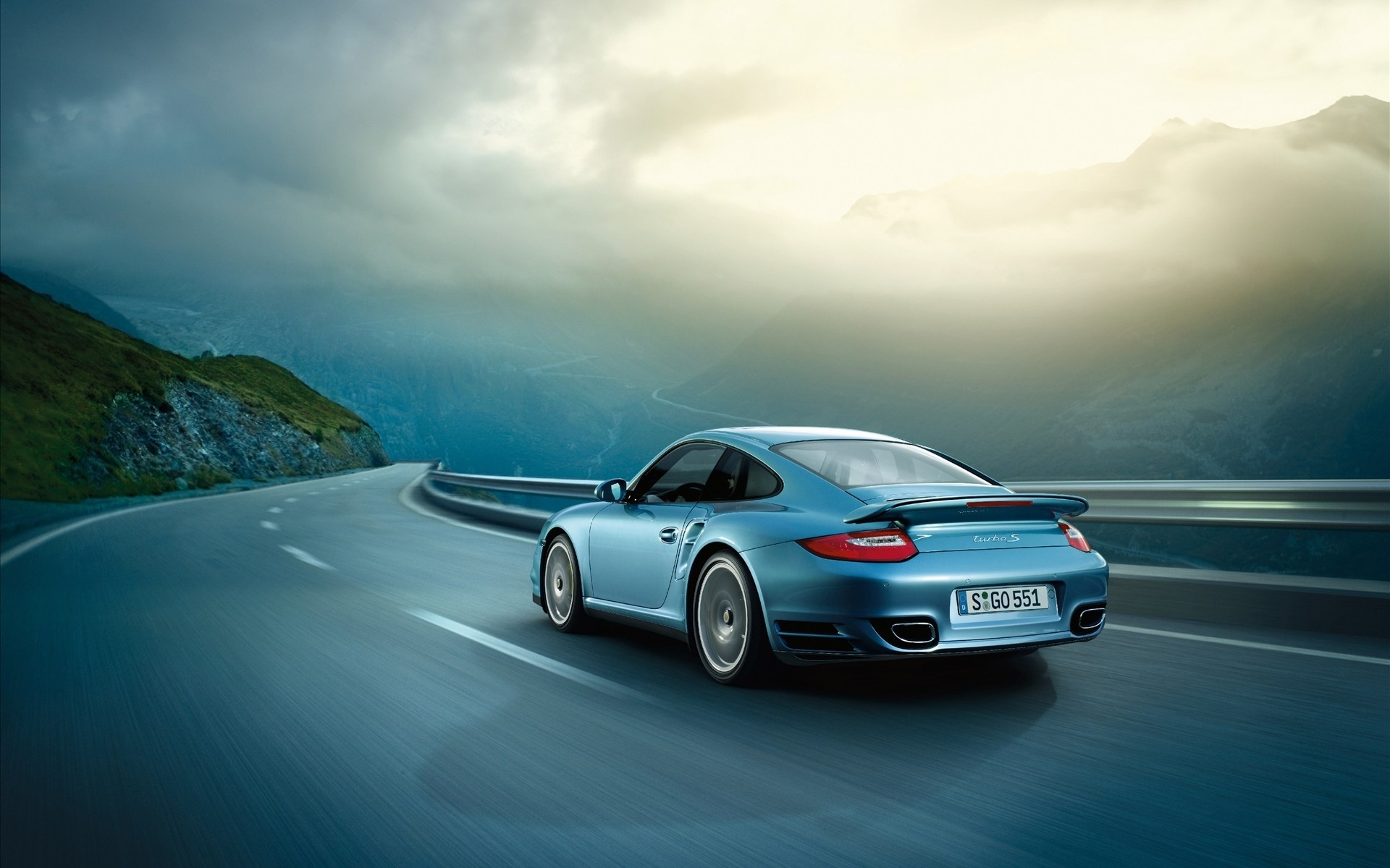 1920x1200 2011 Porsche 911 Turbo S Mountain Road Desktop Wallpaper